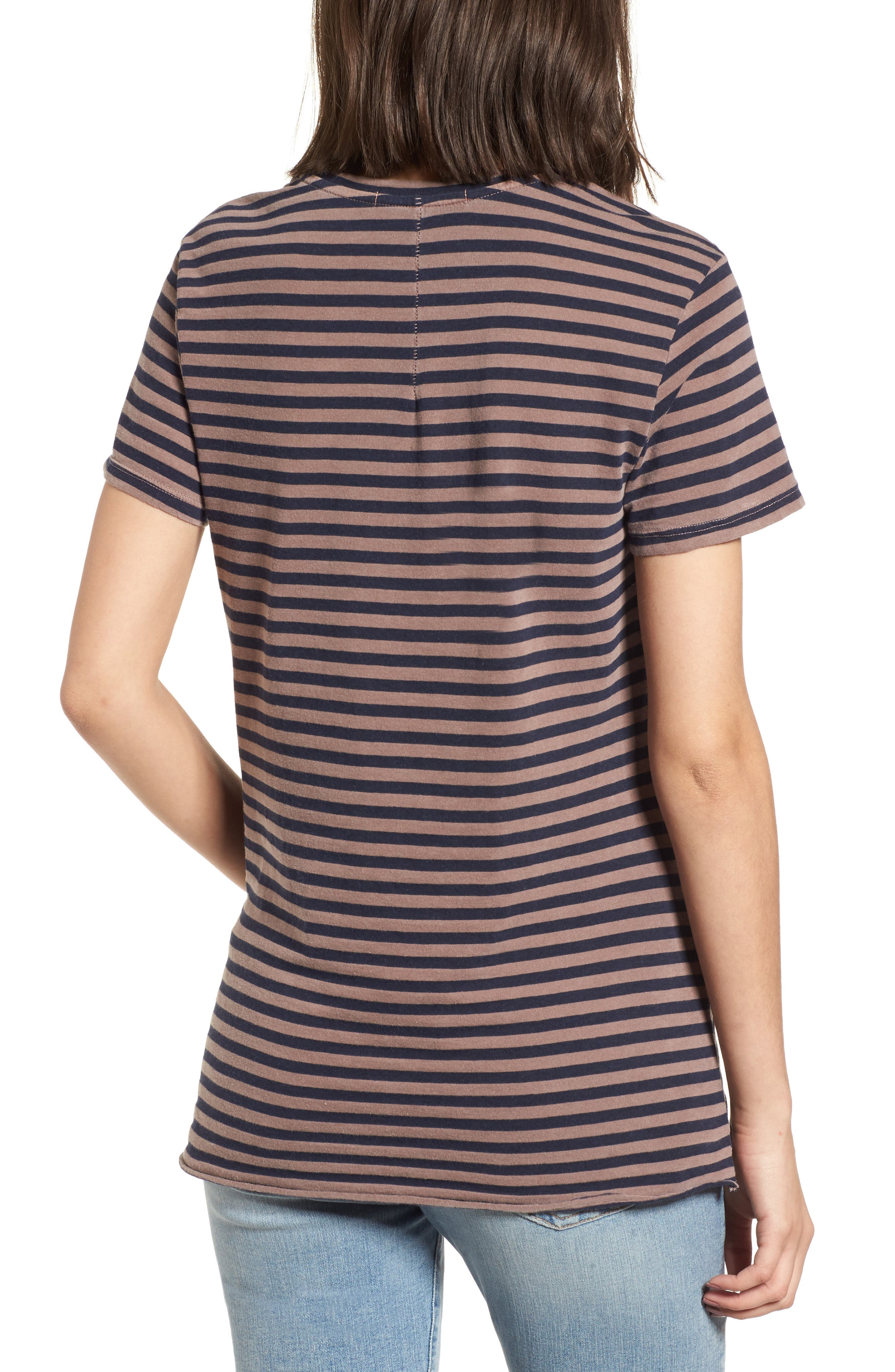 Stripe Twist Front Tee,                             Alternate thumbnail 2, color,                             250