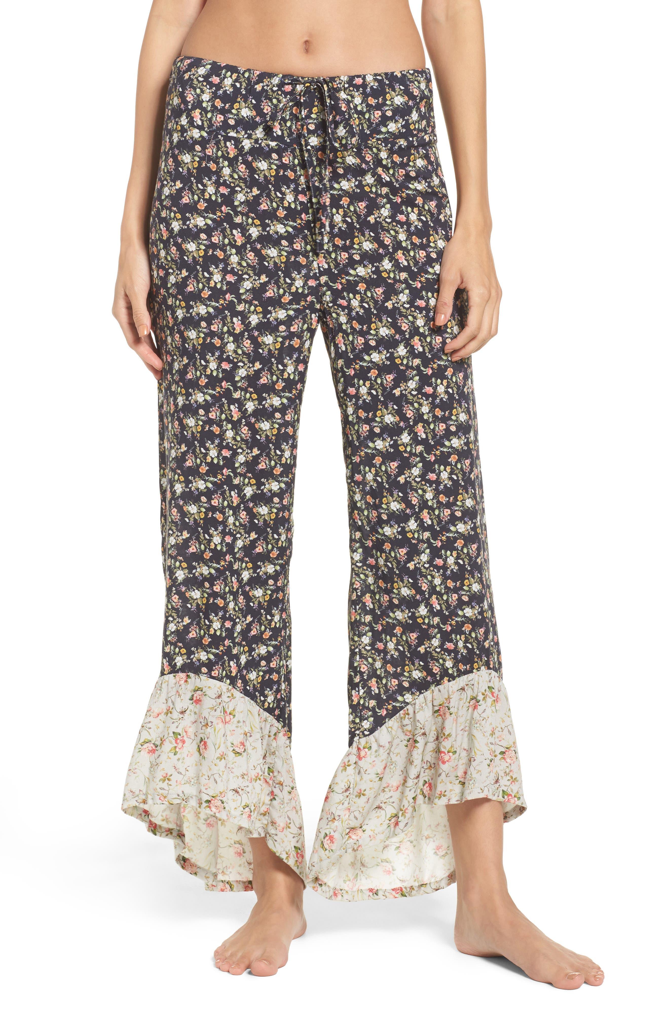 Floral Pajama Pants,                             Main thumbnail 1, color,                             400