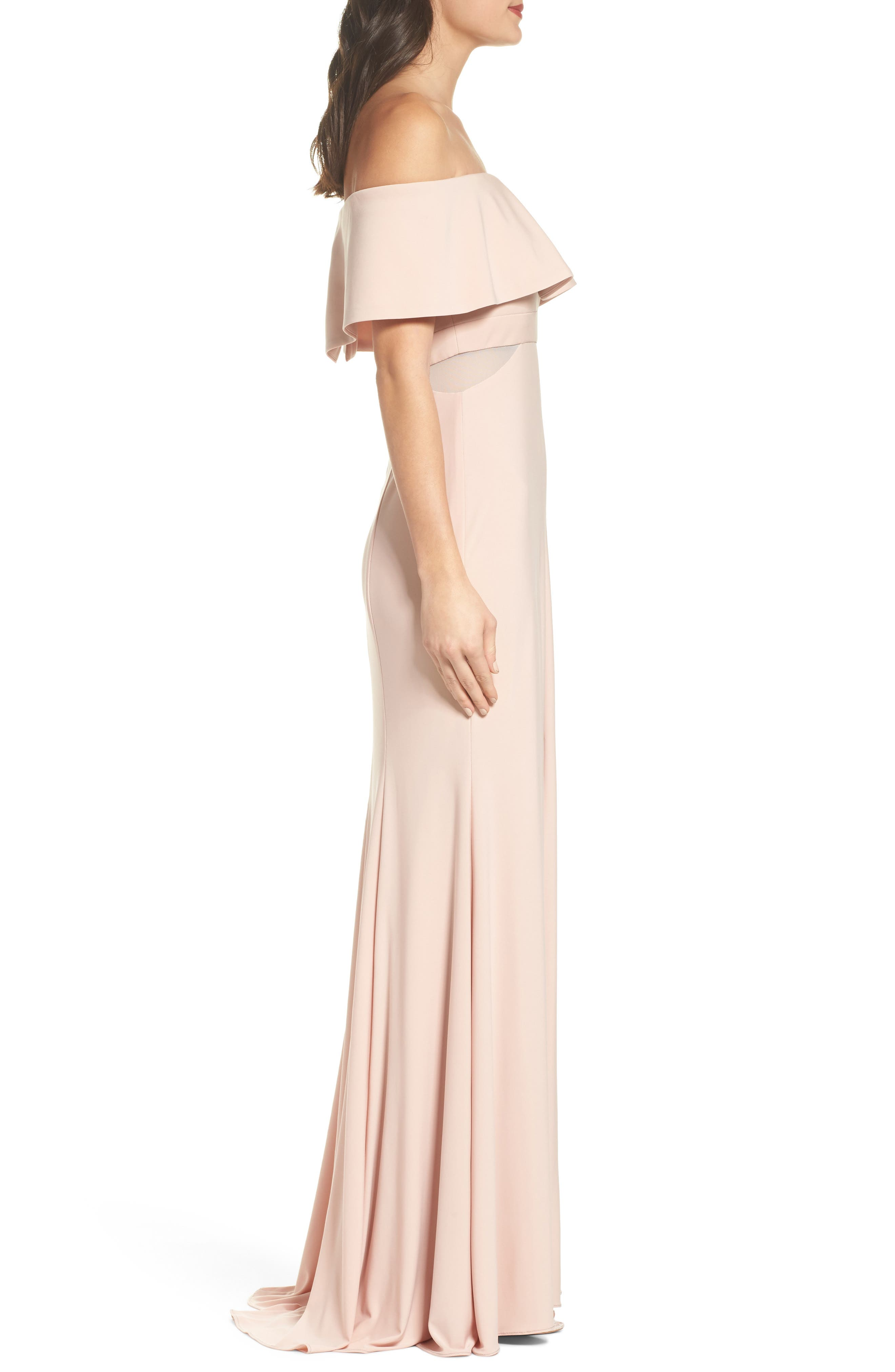Jersey Popover Gown,                             Alternate thumbnail 3, color,                             682