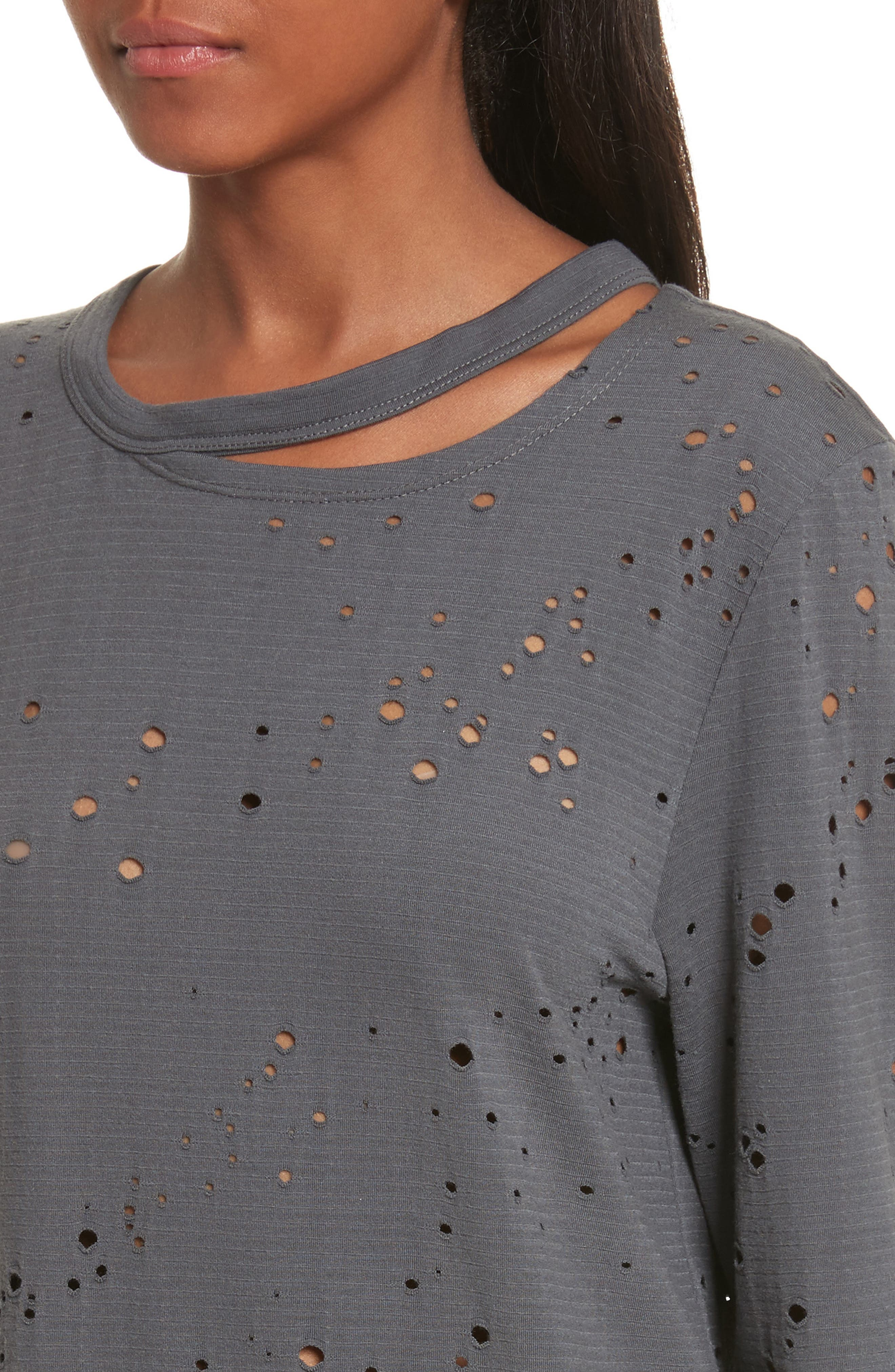 Waverly Perforated Tee,                             Alternate thumbnail 4, color,                             022