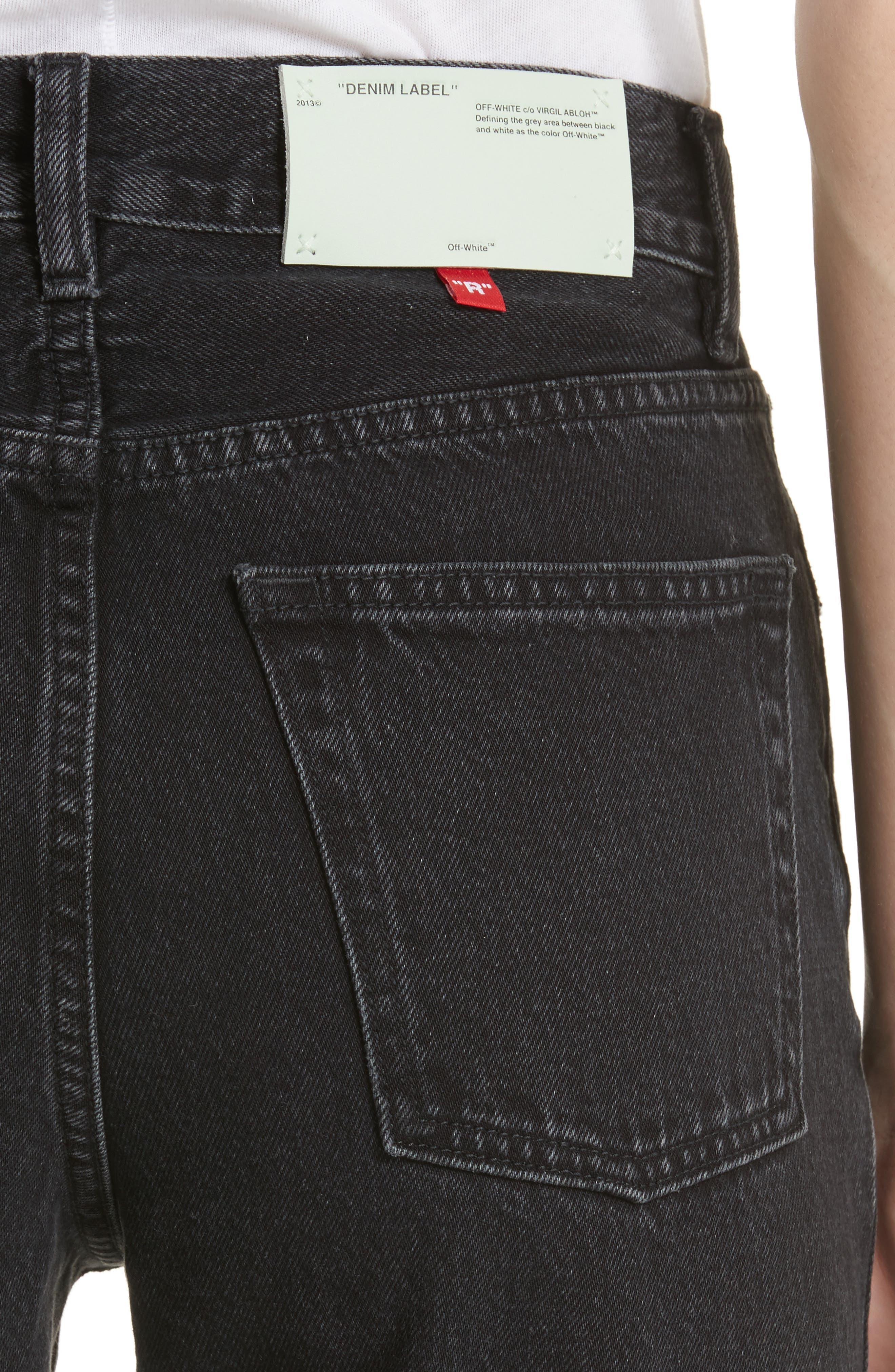Classic Straight Leg Jeans,                             Alternate thumbnail 5, color,                             001