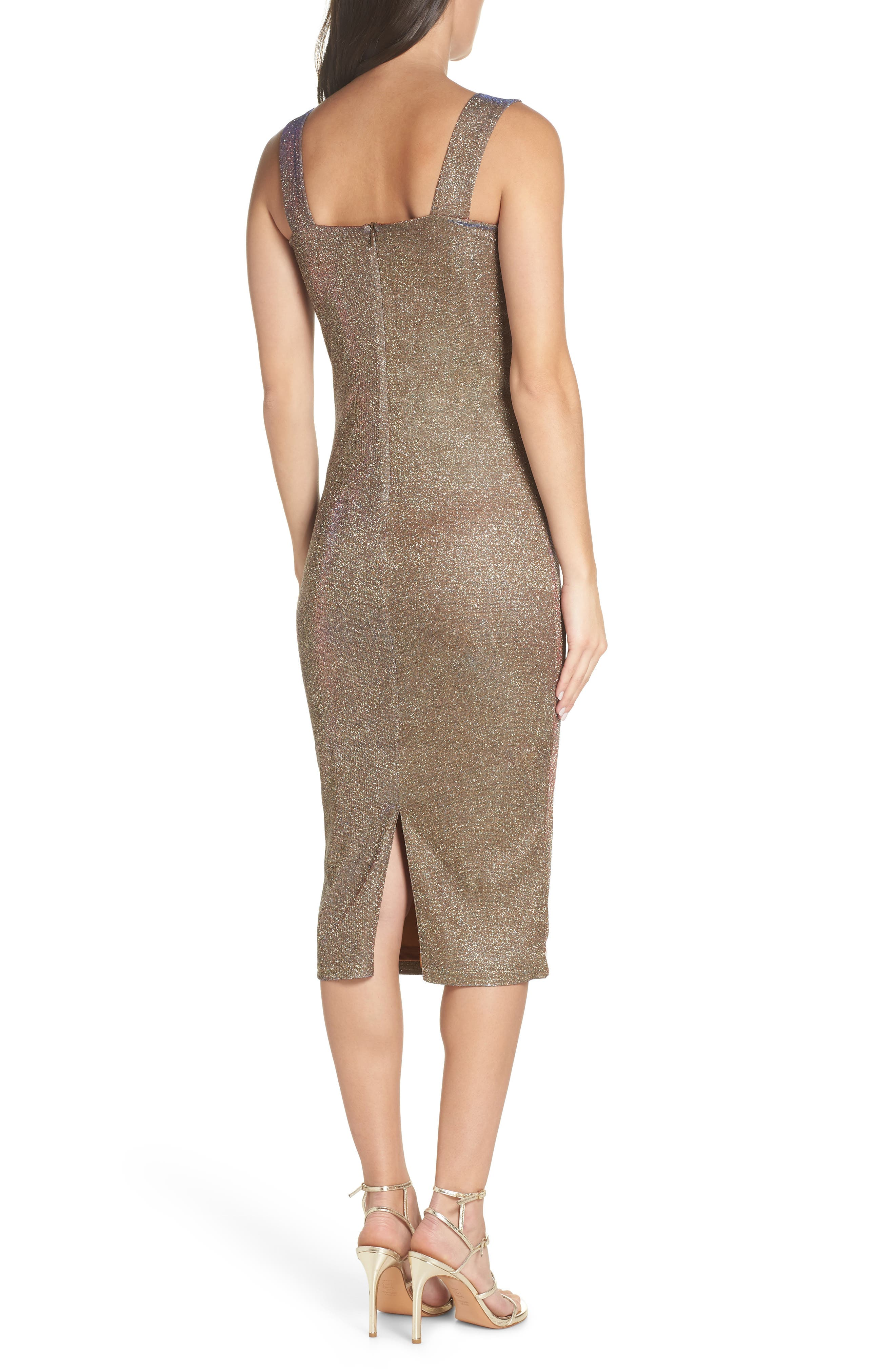 Mimi Sparkle Dress,                             Alternate thumbnail 2, color,                             GOLD