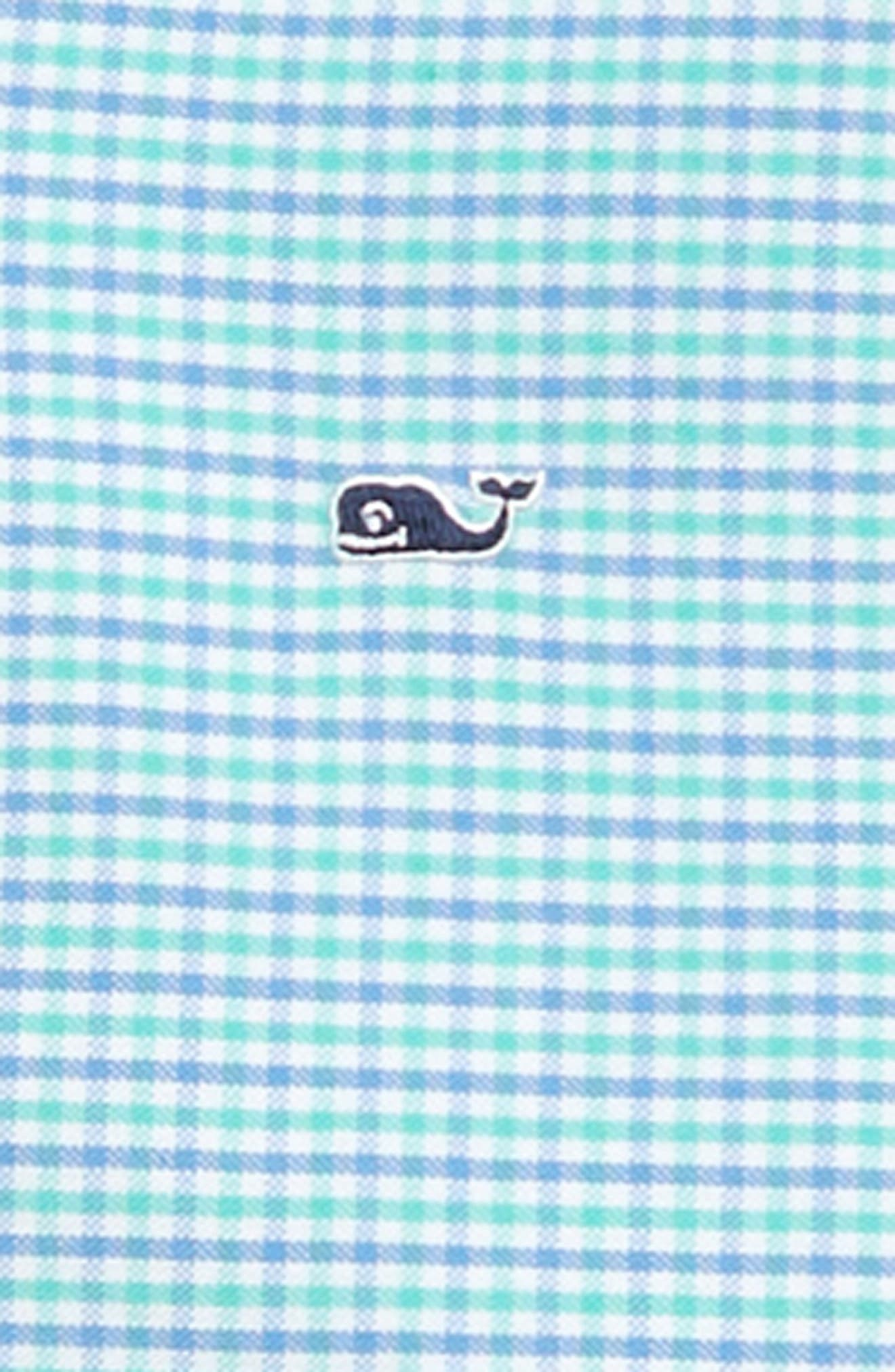 Bell Haven Plaid Oxford Shirt,                             Alternate thumbnail 2, color,                             CAPRI BLUE