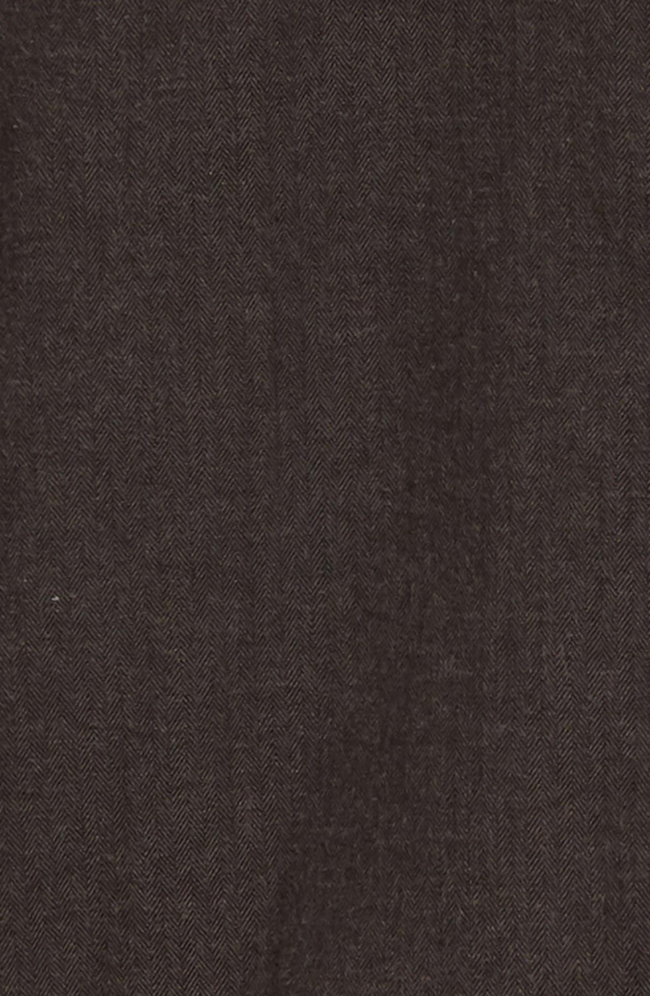 Lybek Regular Fit Herringbone Flannel Shirt,                             Alternate thumbnail 6, color,                             SCORCHED BROWN HERRINGBONE