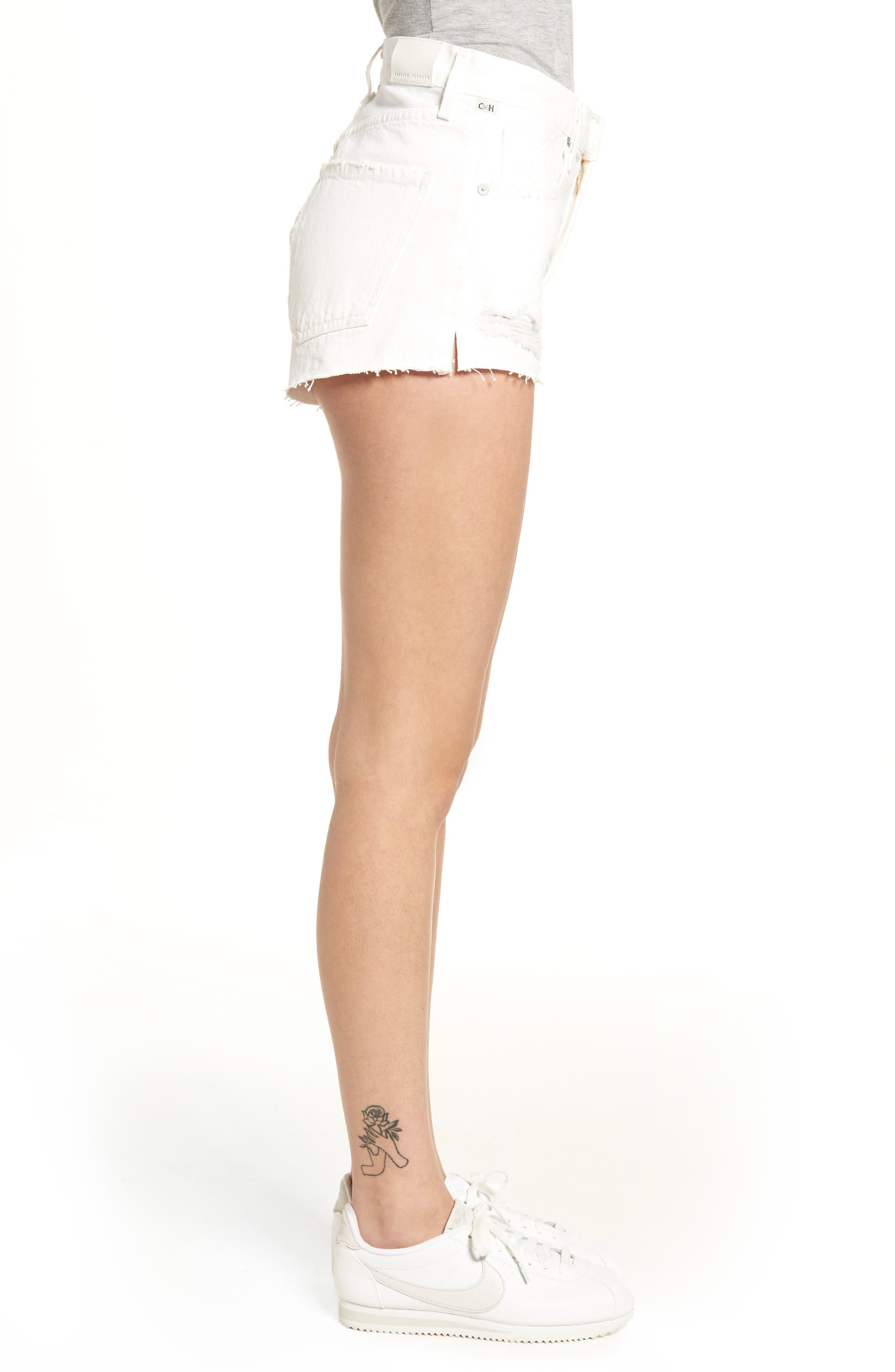 Danielle Cutoff Denim Shorts,                             Alternate thumbnail 3, color,