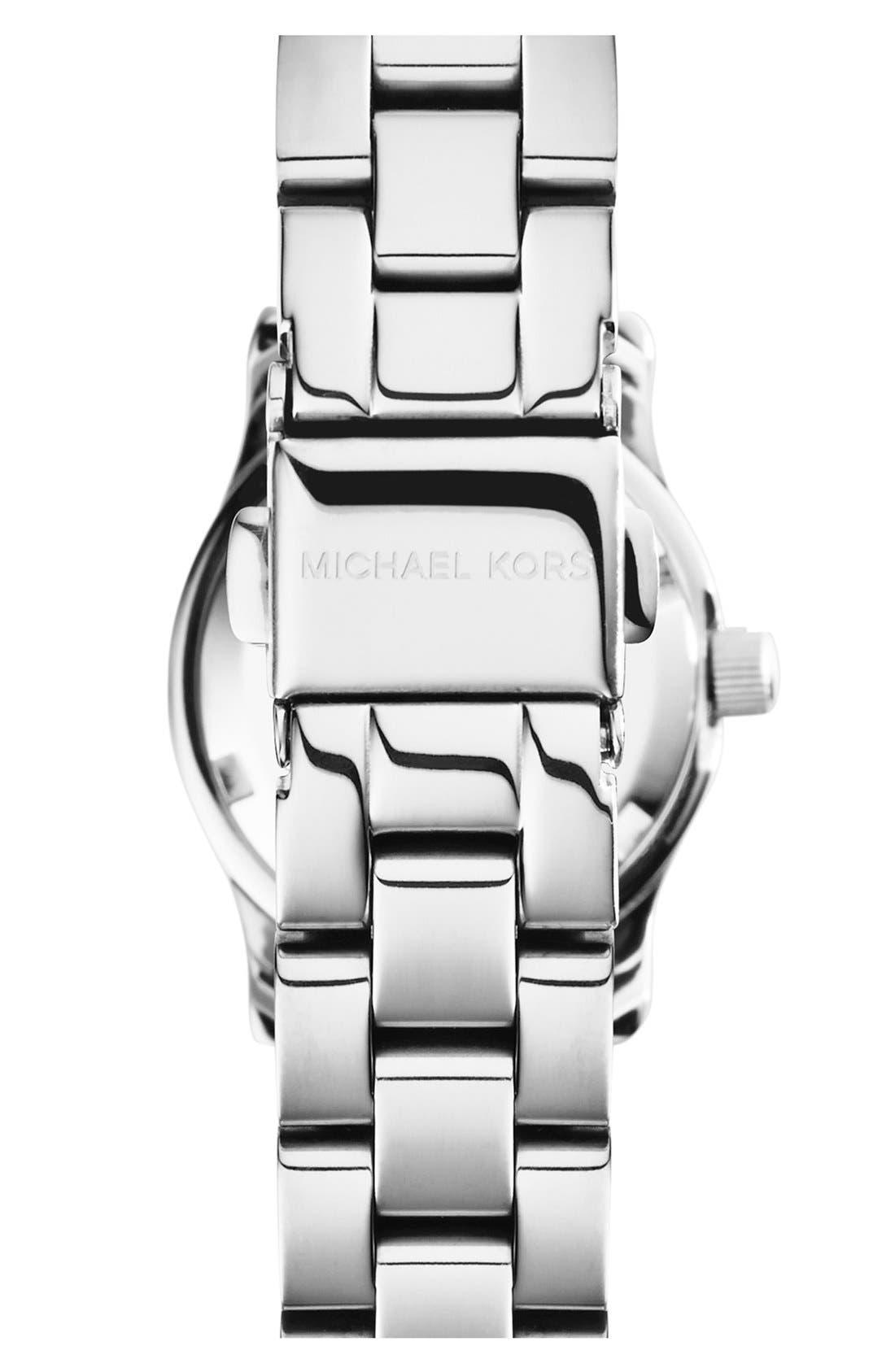 Michael Kors 'Petite Runway' Logo Dial Bracelet Watch, 26mm,                             Alternate thumbnail 2, color,                             040