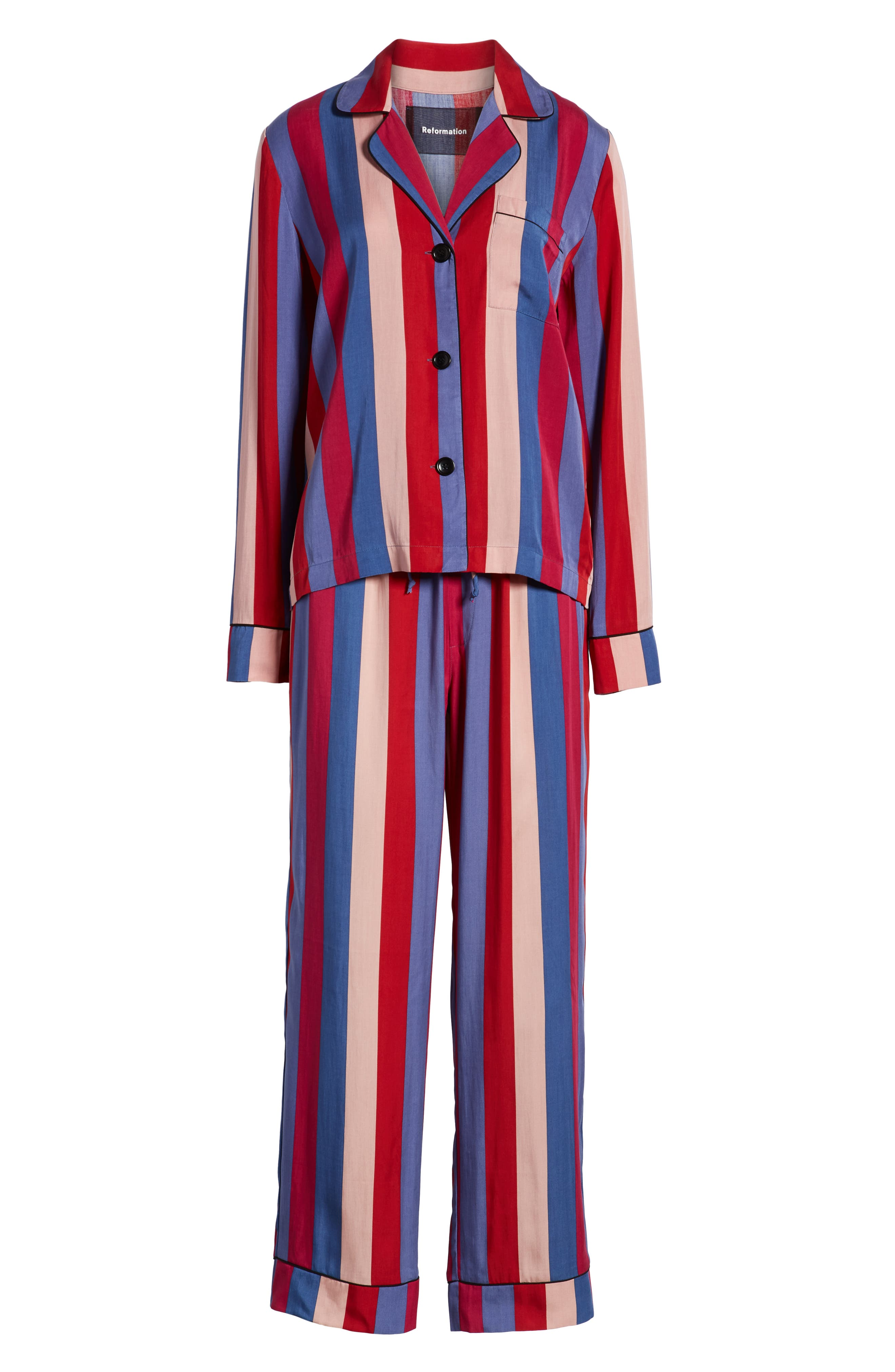 Stripe Pajamas,                             Alternate thumbnail 4, color,                             DISCO STRIPE