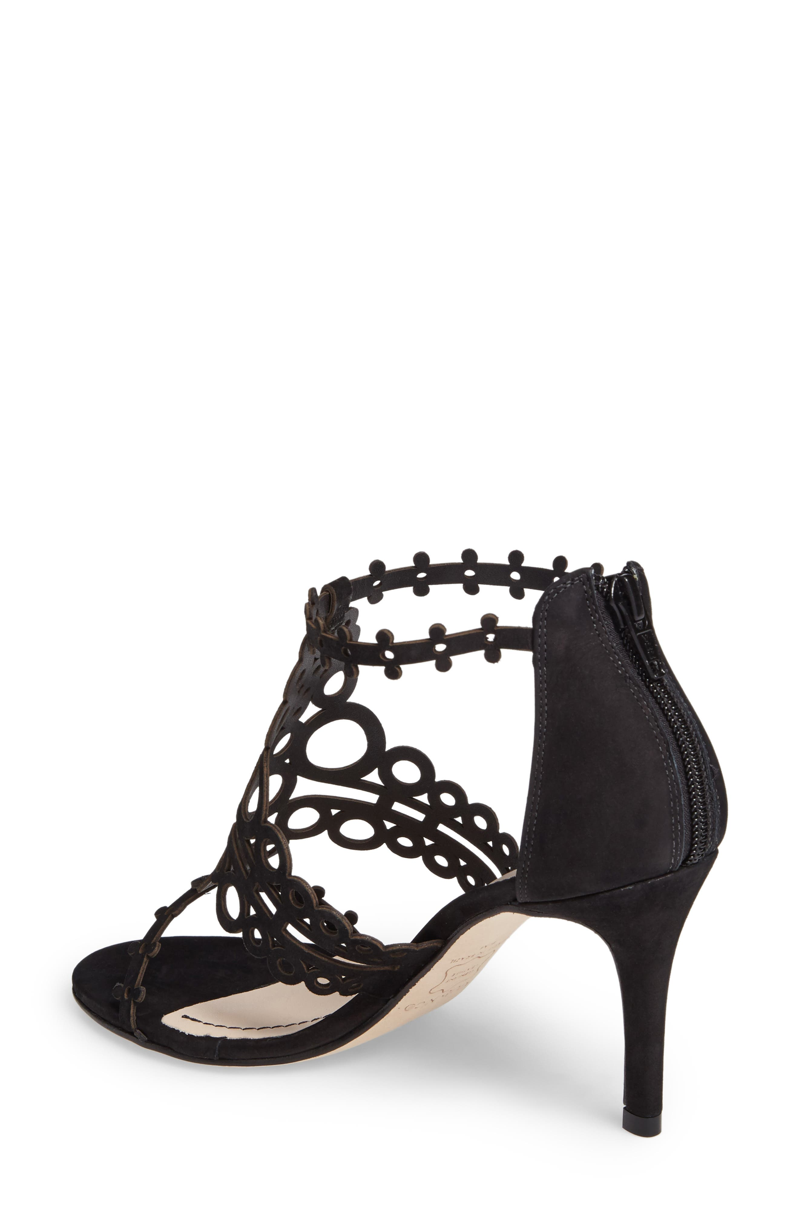 'Antonia' Laser Cut T-Strap Sandal,                             Alternate thumbnail 6, color,