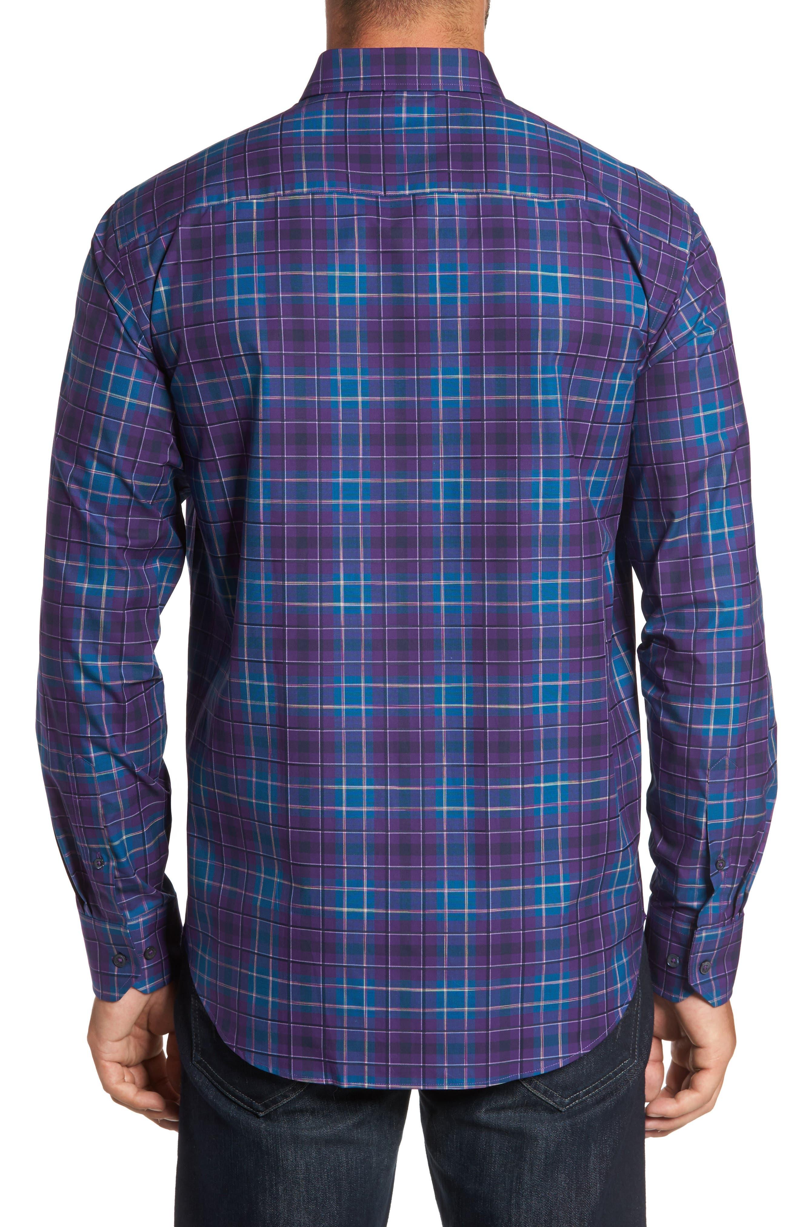 Classic Fit Plaid Sport Shirt,                             Alternate thumbnail 2, color,                             513