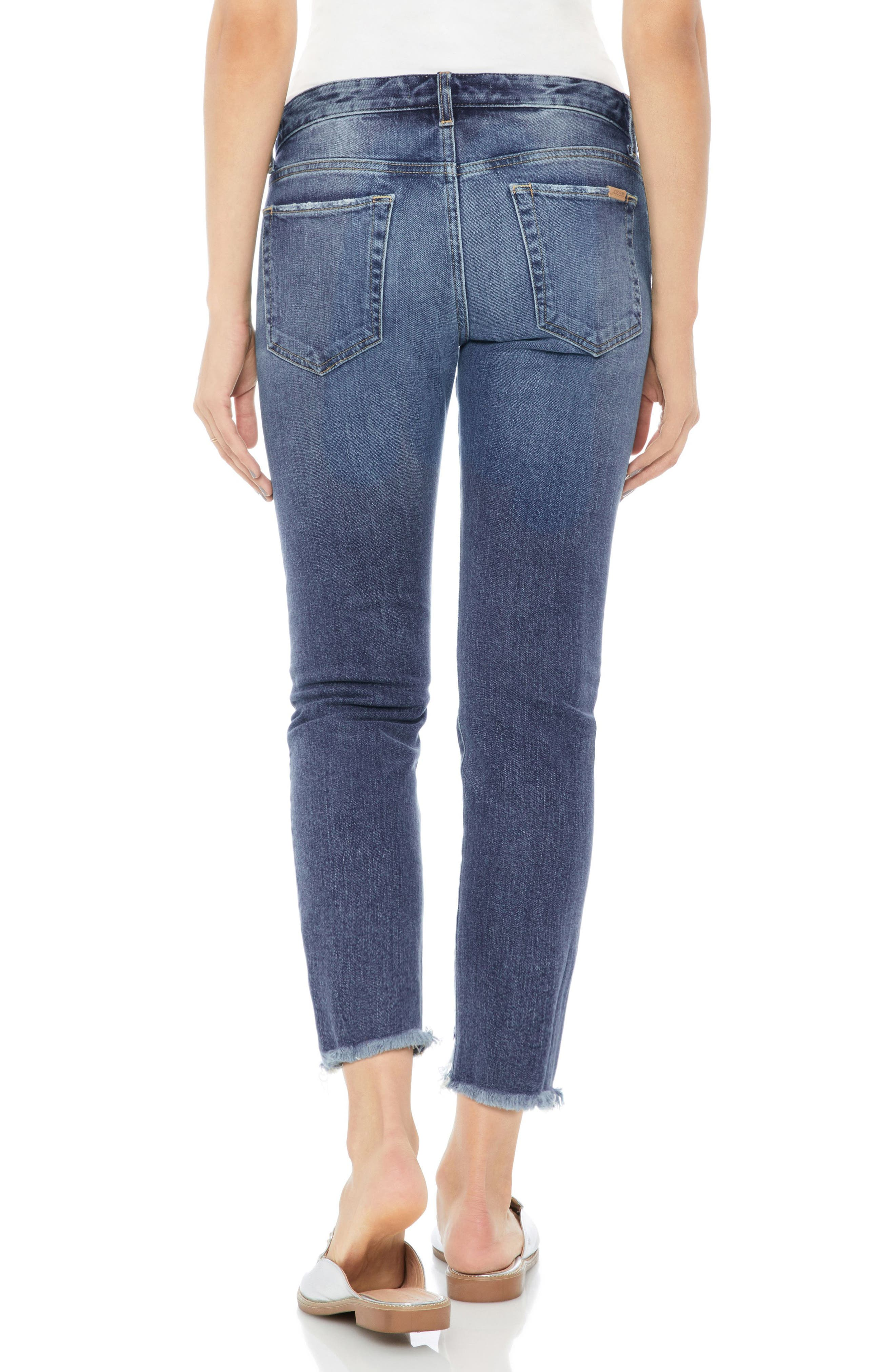 Smith Distressed Crop Straight Leg Jeans,                             Alternate thumbnail 2, color,                             SKYLER