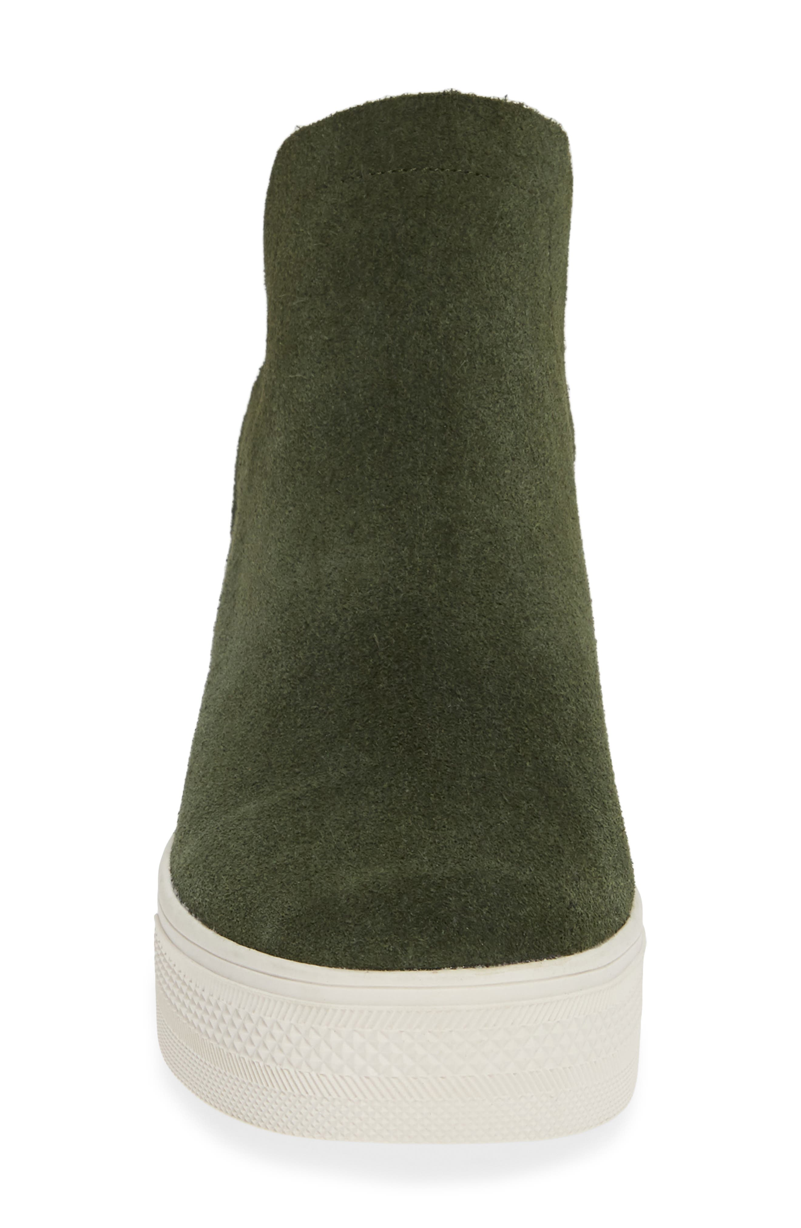 Wrangle Sneaker,                             Alternate thumbnail 4, color,                             OLIVE SUEDE
