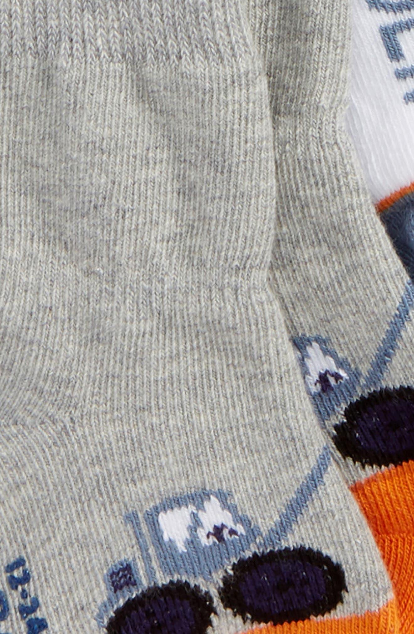 Big Digger 3-Pack Socks,                             Alternate thumbnail 2, color,                             BLUE/ GRAY/ ORANGE/ WHITE