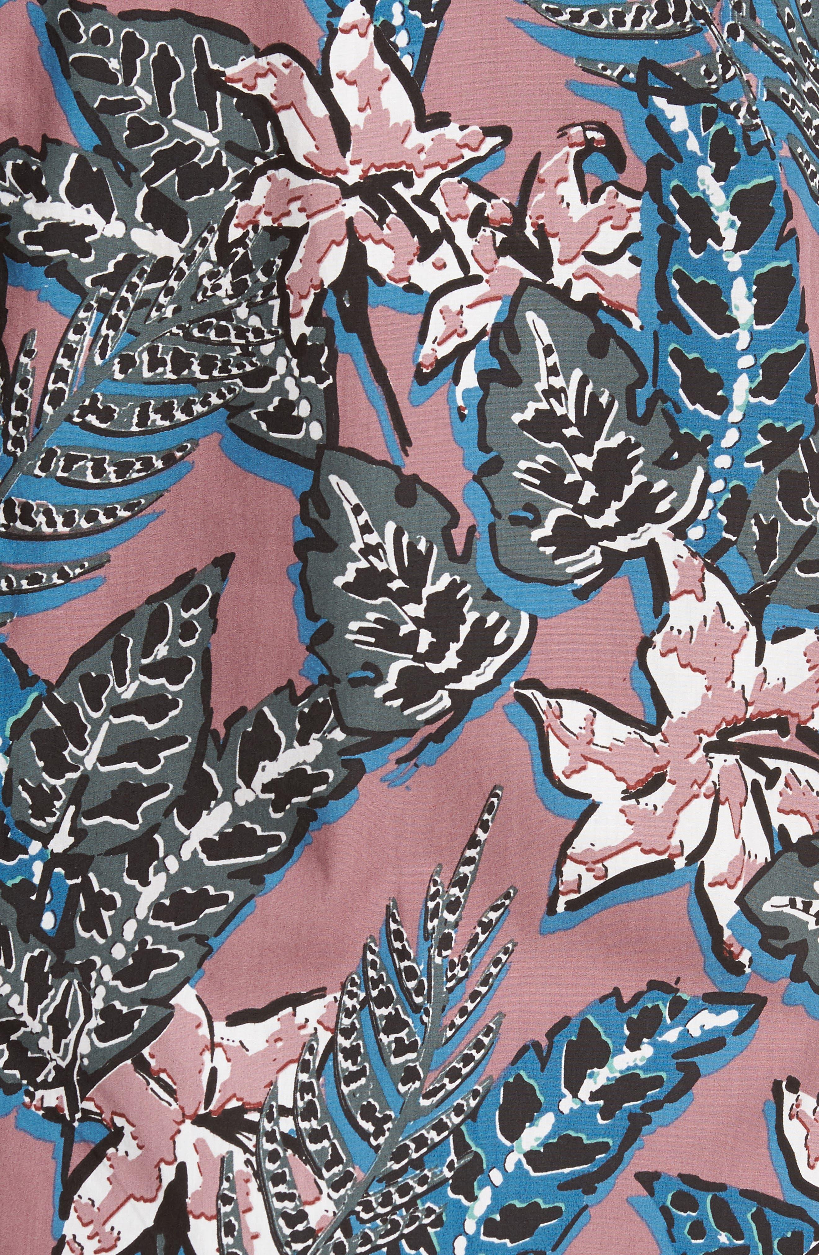 Clbtrop Trim Fit Tropical Woven Shirt,                             Alternate thumbnail 5, color,