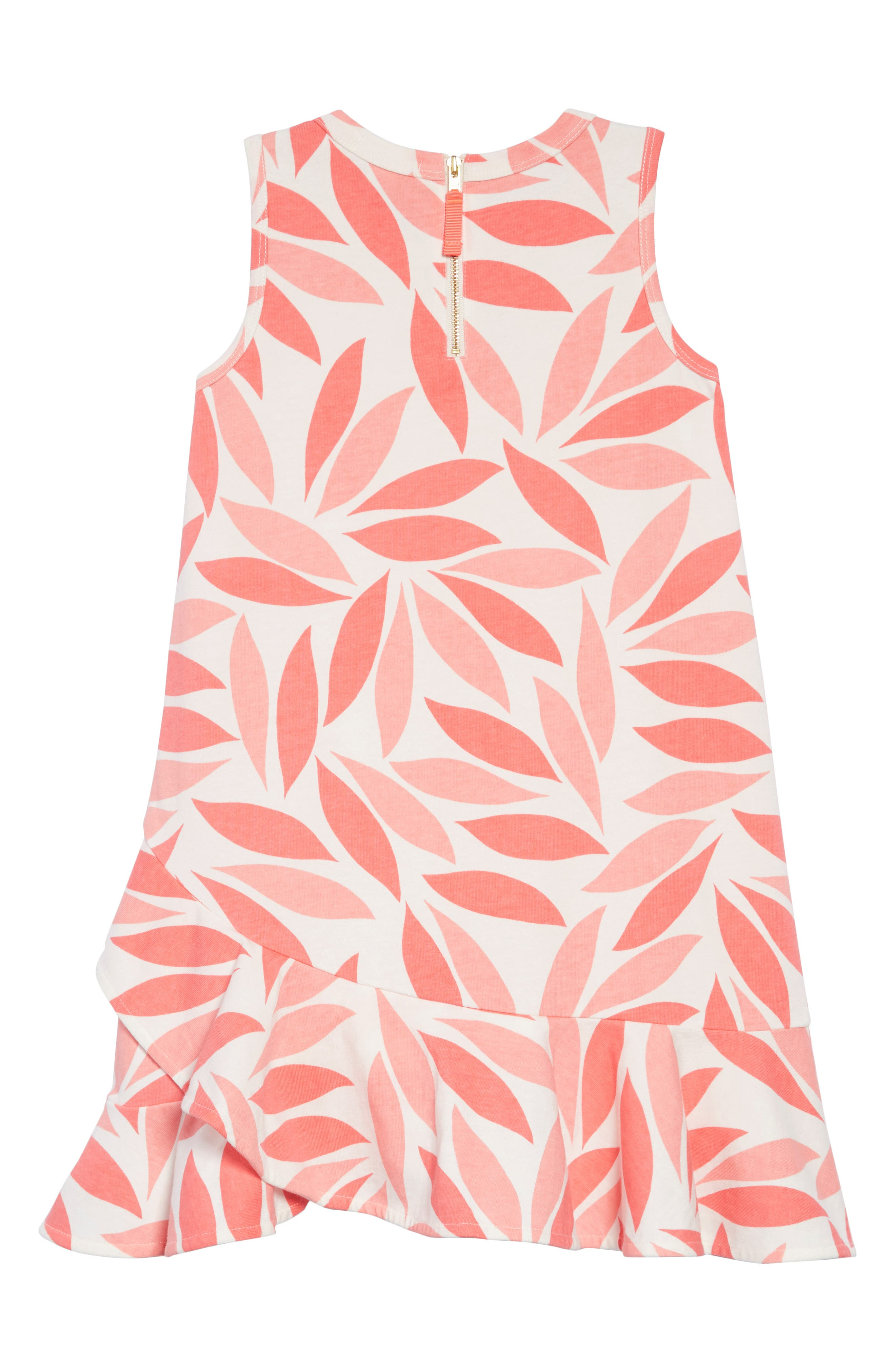 Coral Petal Ruffle Hem Dress,                             Alternate thumbnail 2, color,                             AZALEA MULTI