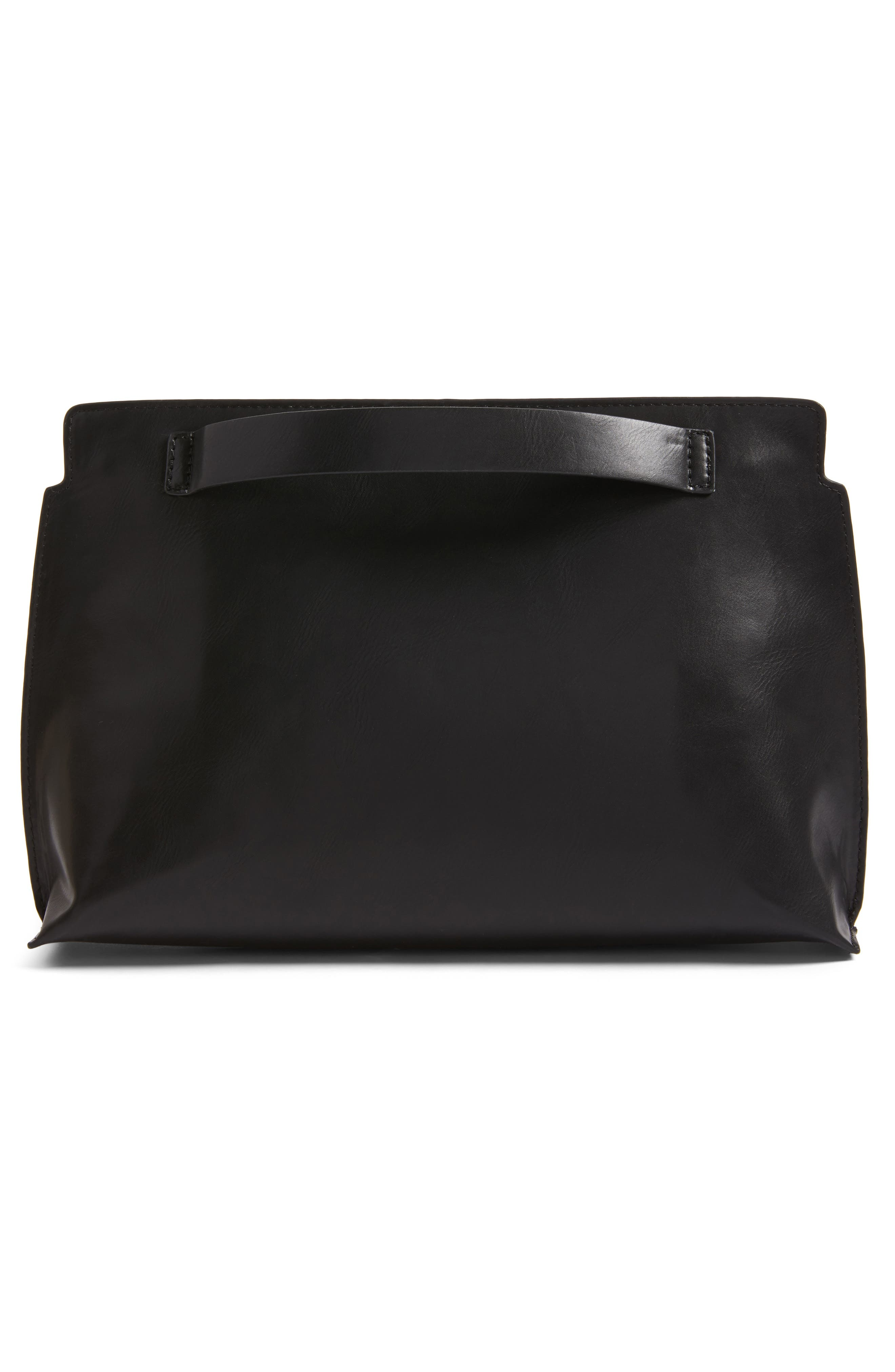 BP.,                             Faux Leather Clutch,                             Alternate thumbnail 3, color,                             001