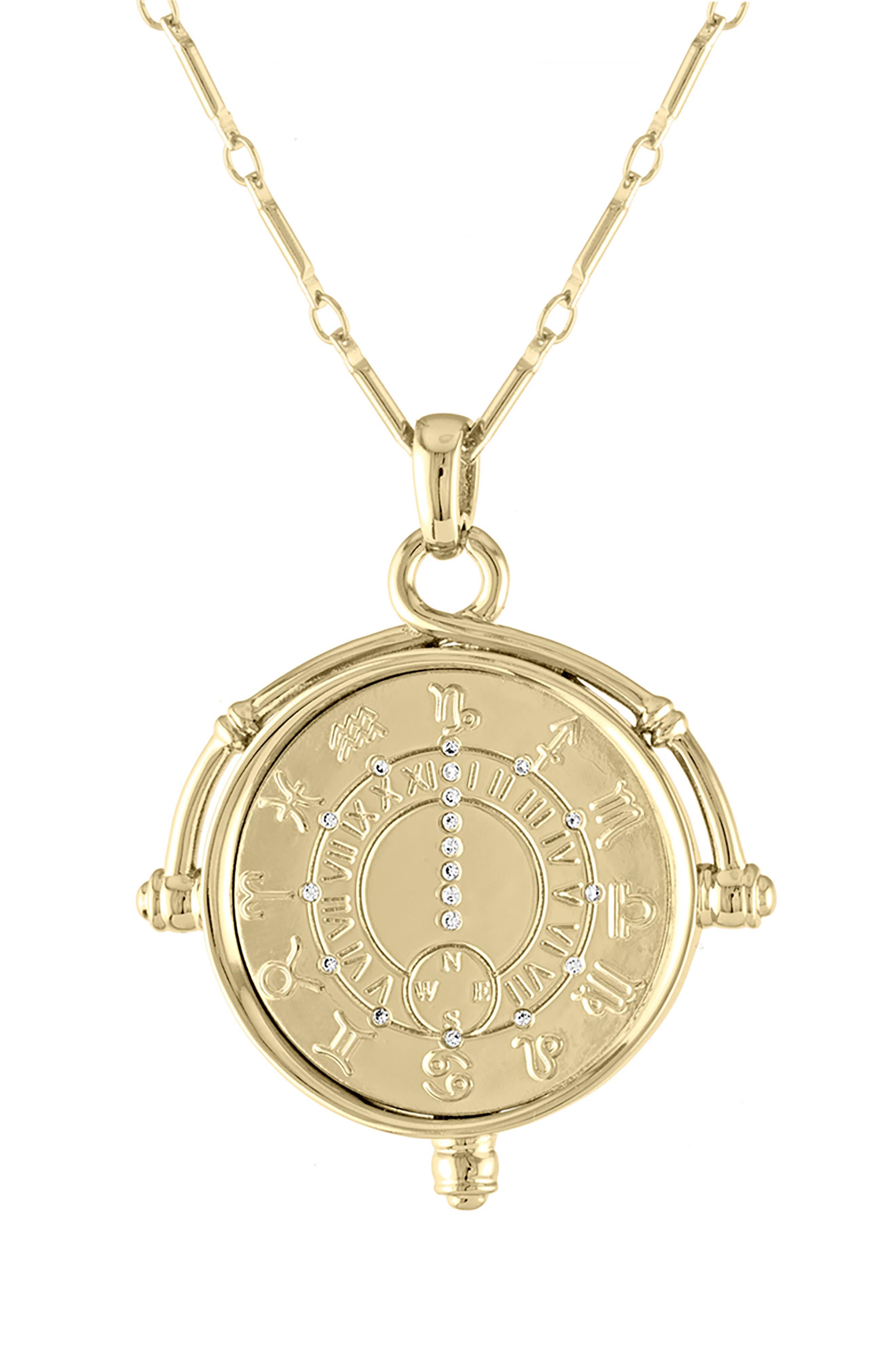 LULU DK Zodiac Pendant Necklace in Gold