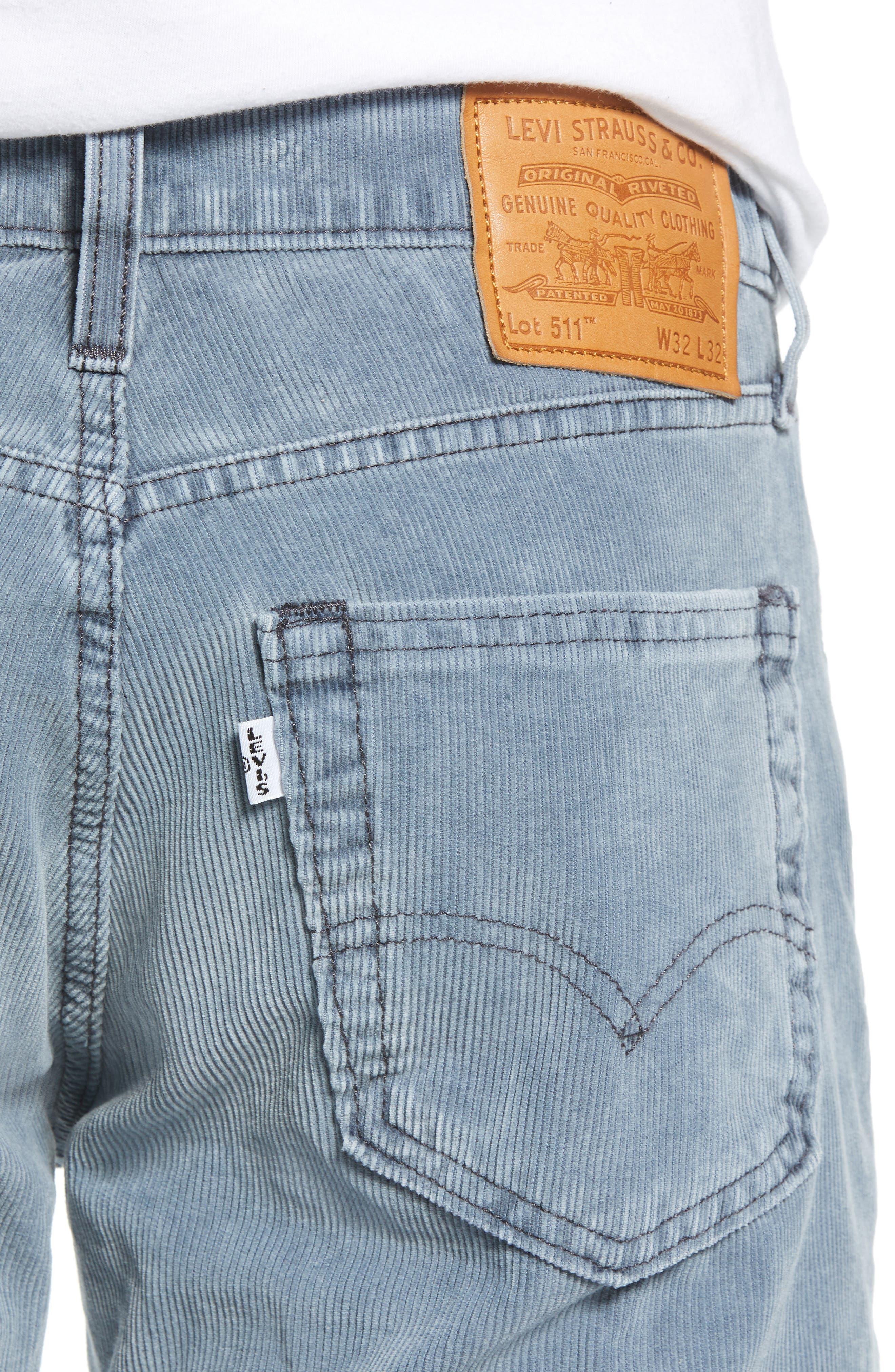 511<sup>™</sup> Slim Fit Corduroy Jeans,                             Alternate thumbnail 4, color,                             OMBRE BLUE WARP CORDUROY