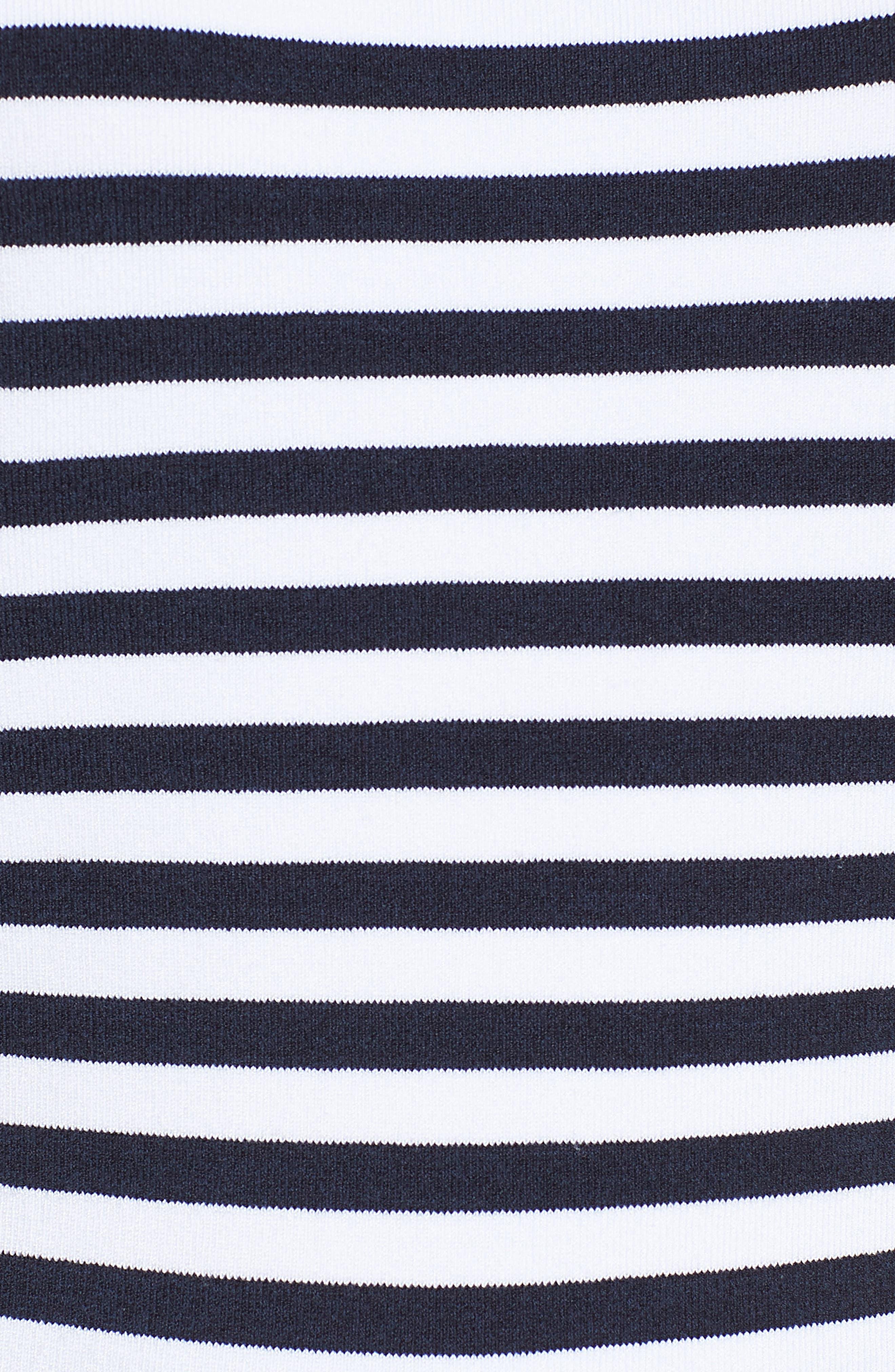 Blouson Sleeve Stripe Sweater,                             Alternate thumbnail 5, color,                             401