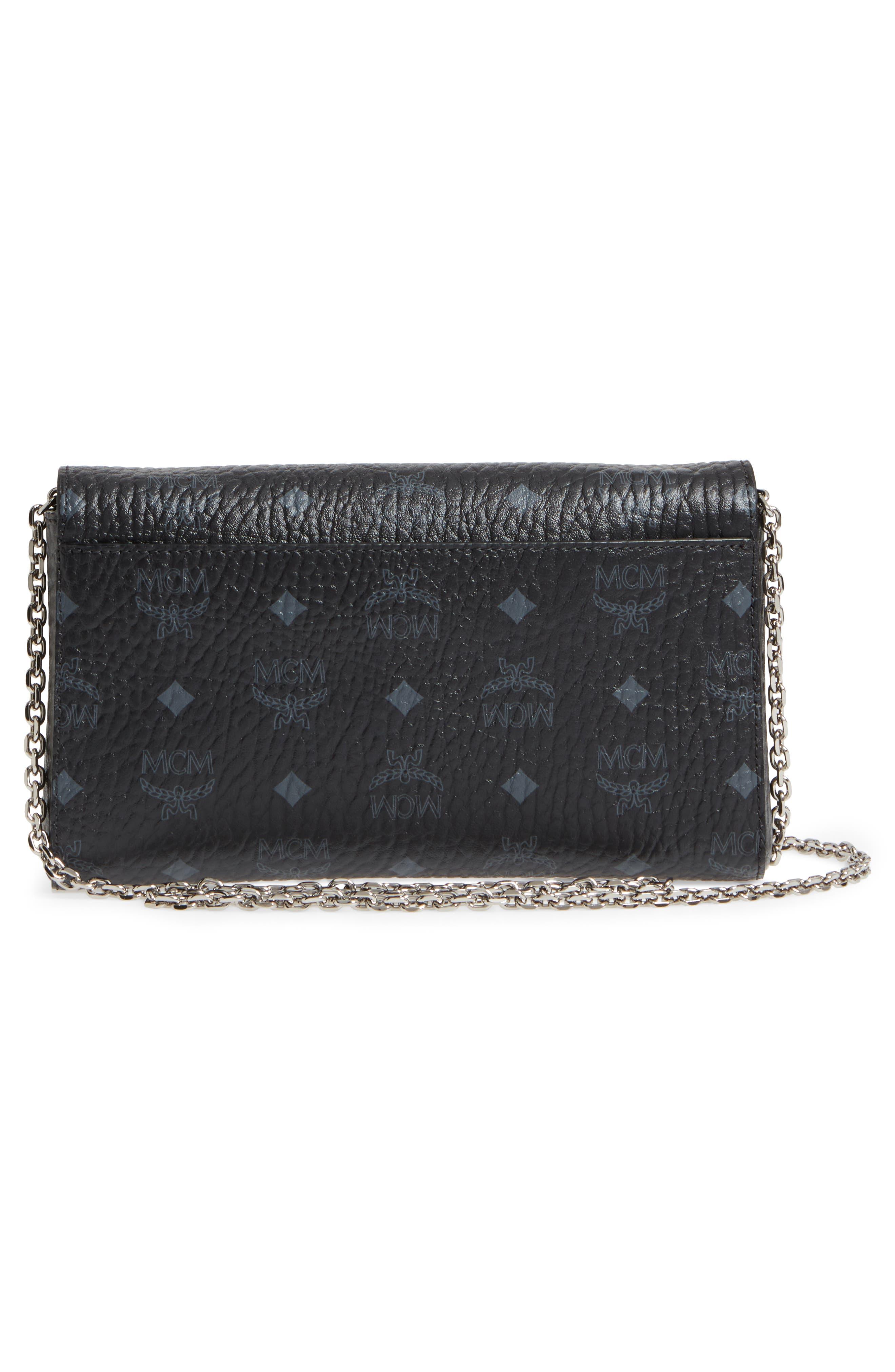 Millie Monogrammed Leather Crossbody Bag,                             Alternate thumbnail 3, color,                             001