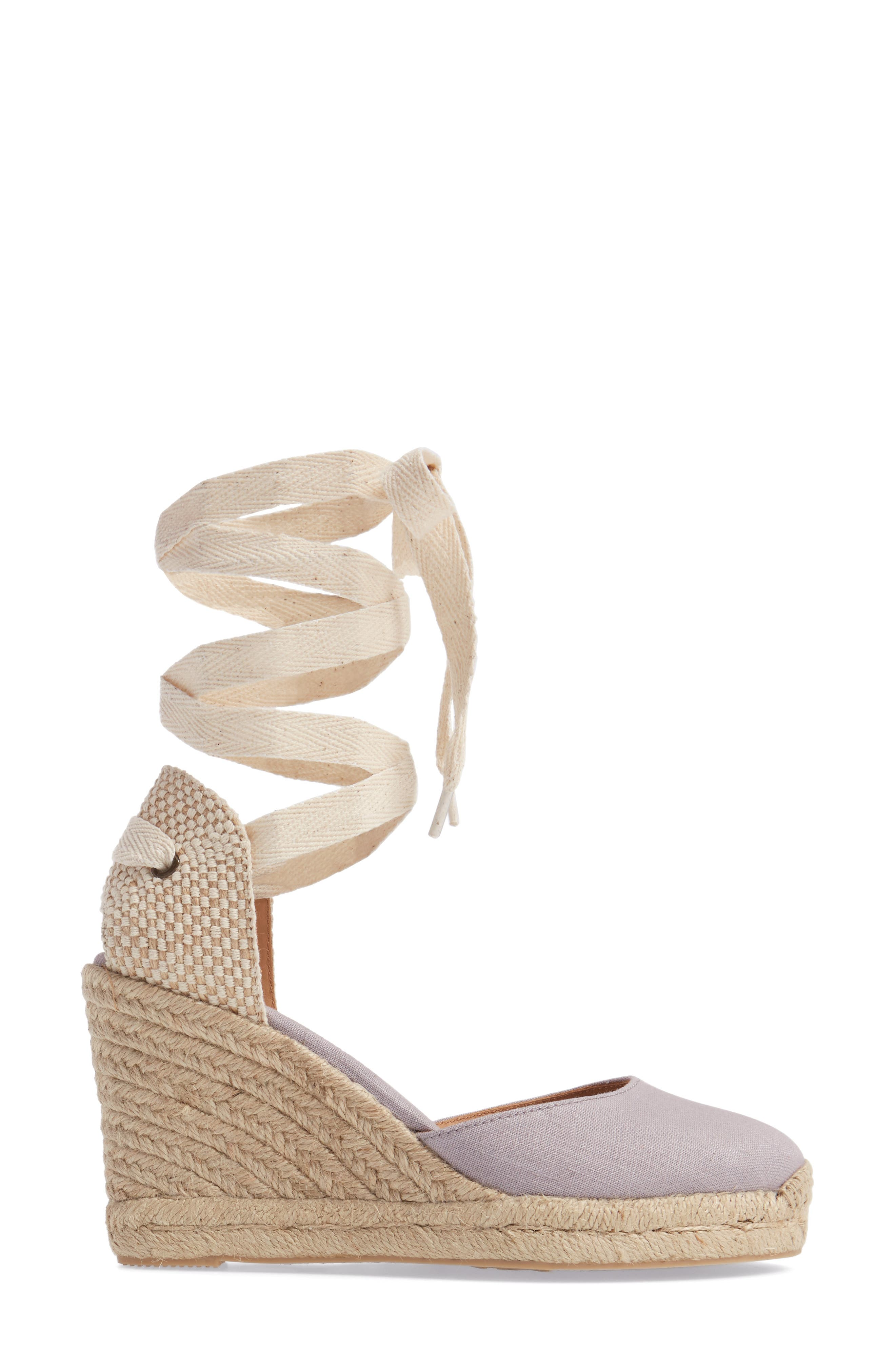Tall Wedge Espadrille,                             Alternate thumbnail 3, color,                             020