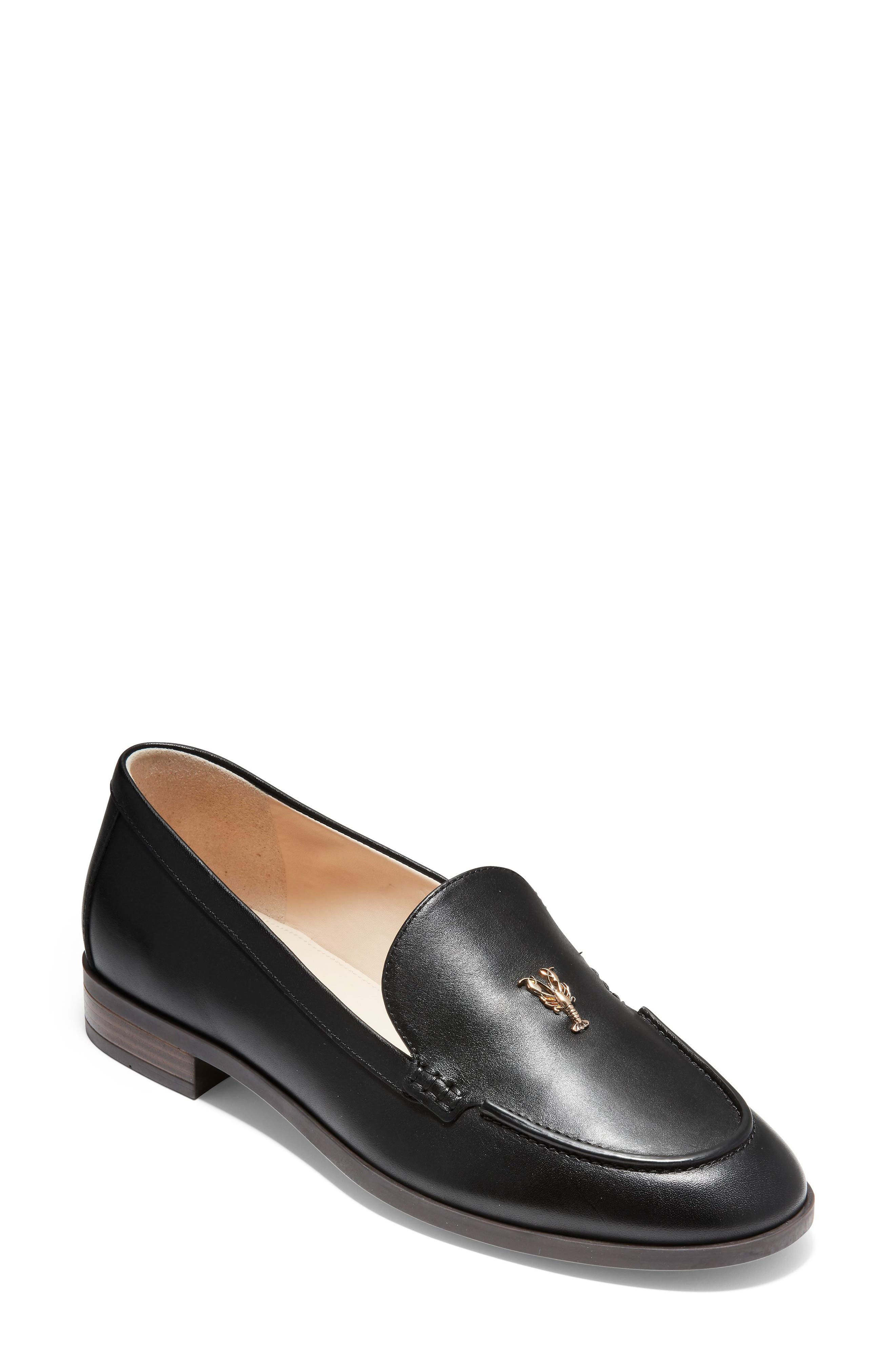 Pinch Lobster Loafer,                             Main thumbnail 1, color,                             BLACK LEATHER