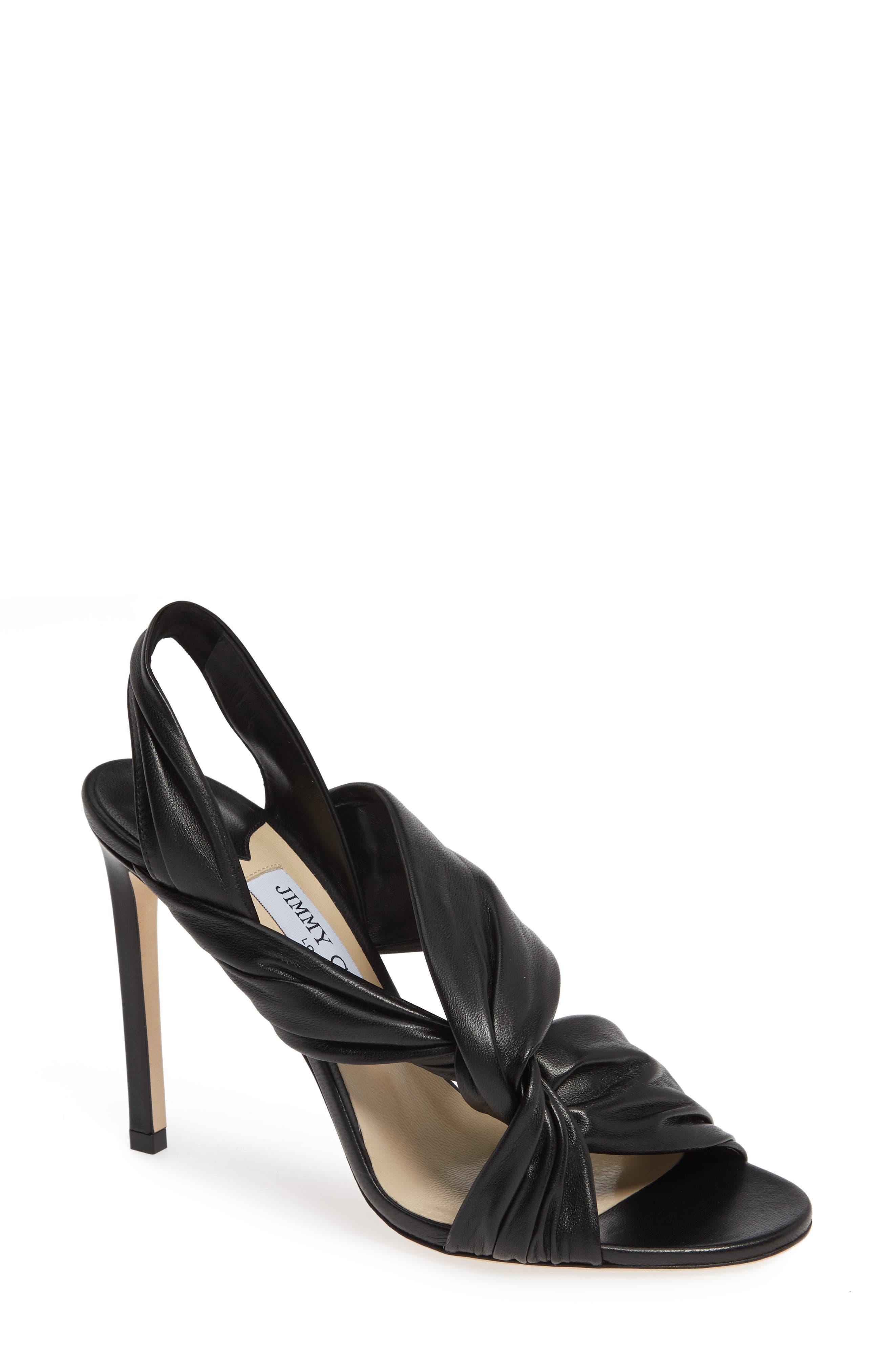 Lalia Slingback Sandal,                             Main thumbnail 1, color,                             BLACK