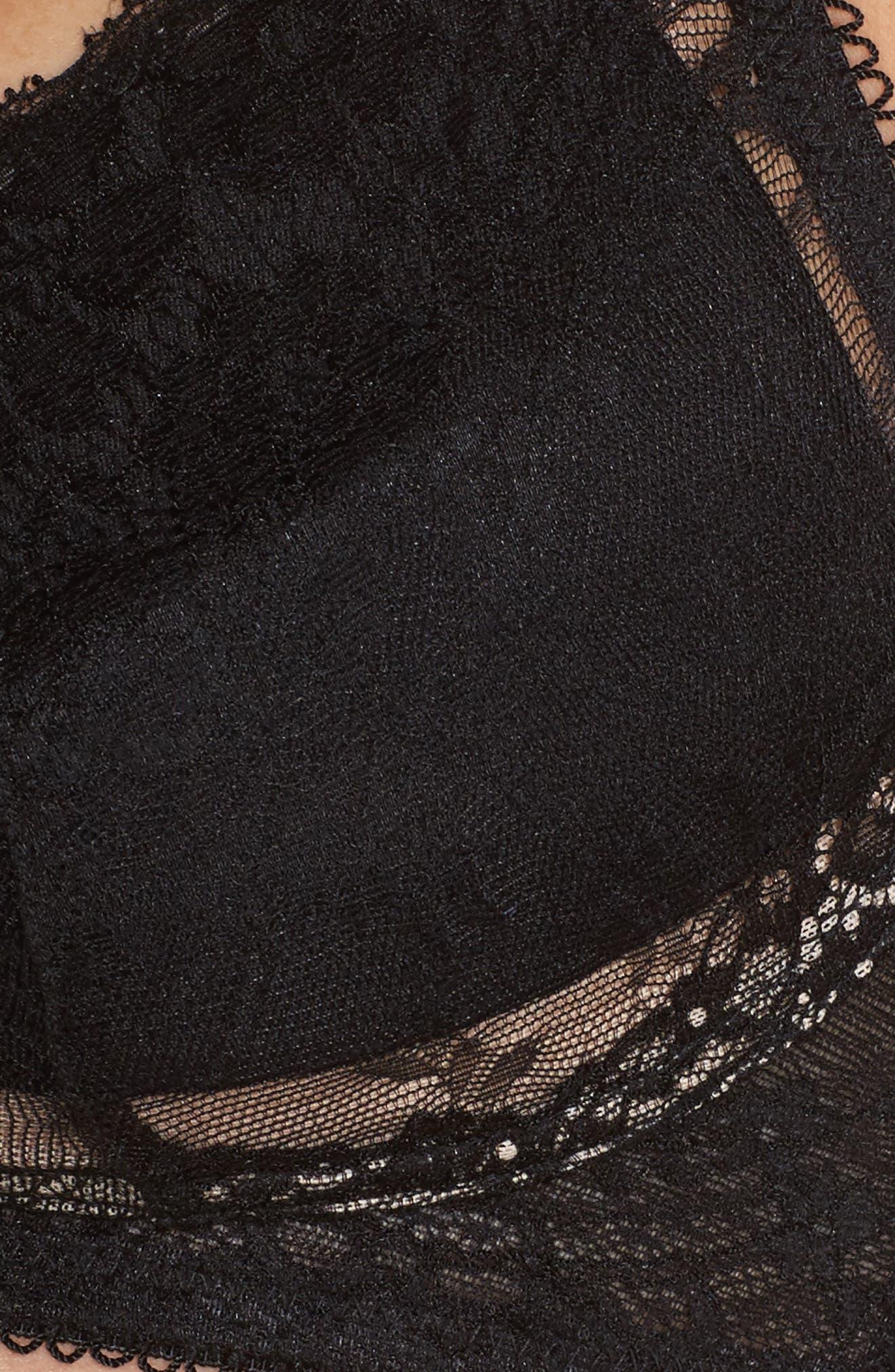 Lace Bralette,                             Alternate thumbnail 6, color,                             BLACK
