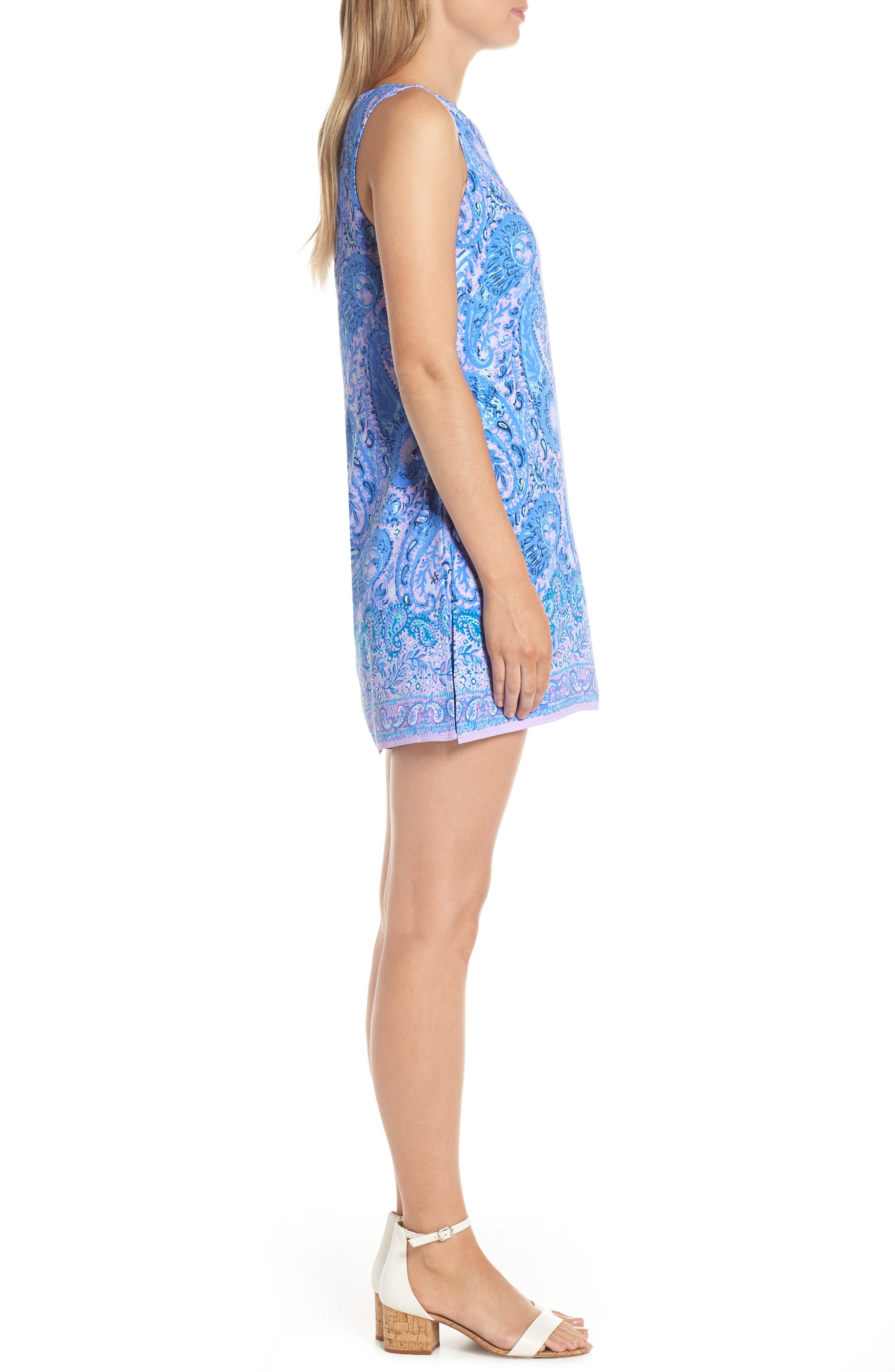 Donna Romper Dress,                             Alternate thumbnail 3, color,                             PURPLE IRIS HELLO SUNSHINE