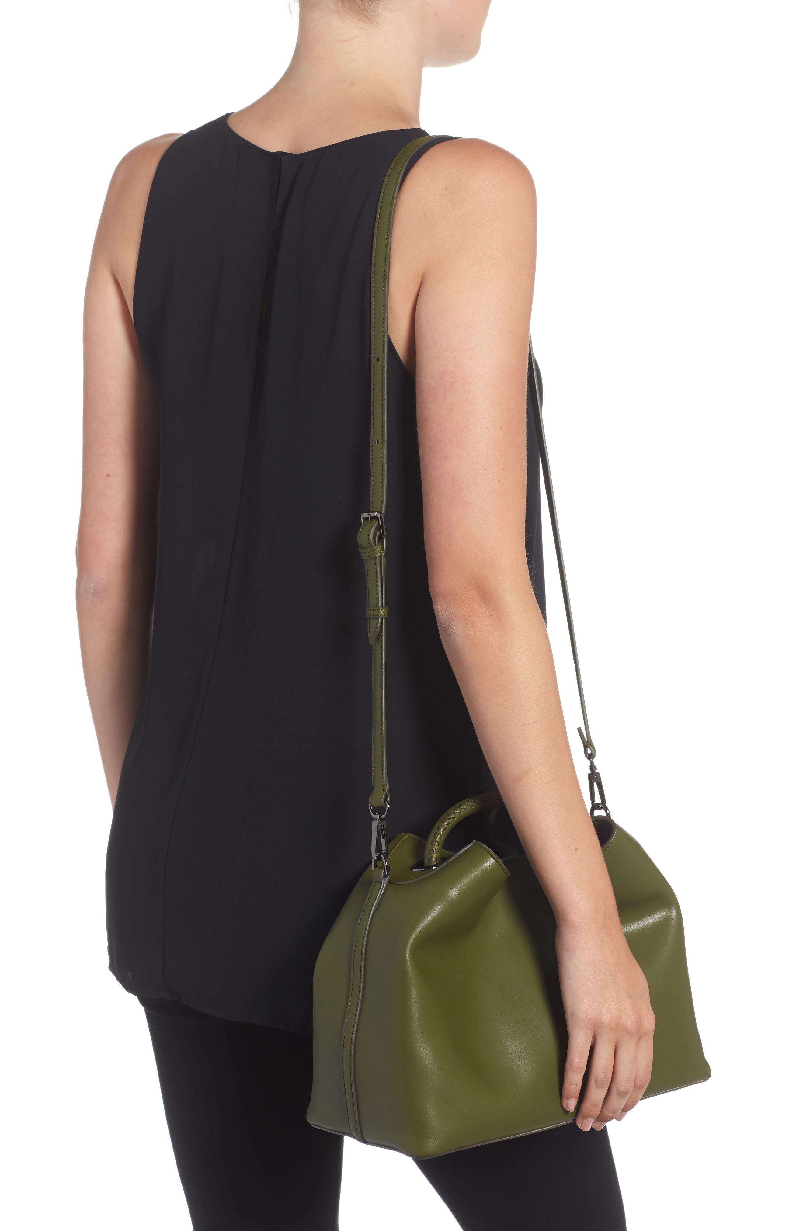 Raisin Leather Handbag,                             Alternate thumbnail 12, color,
