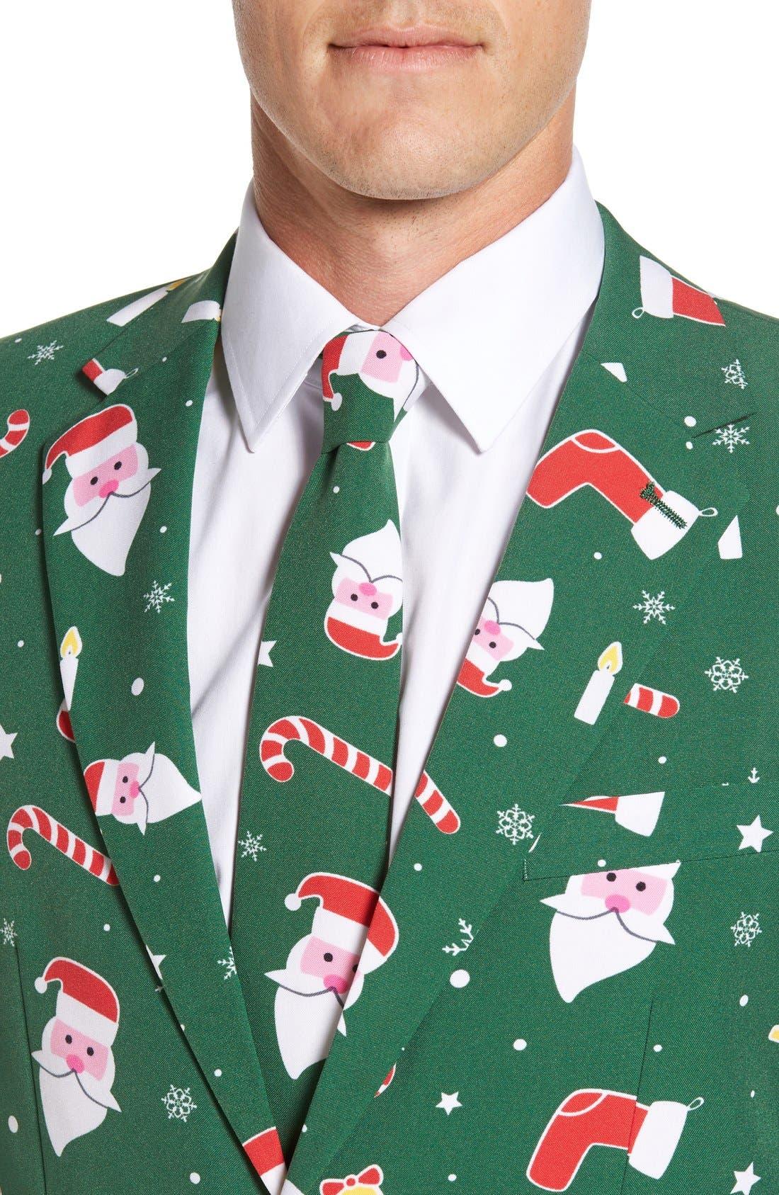 'Santaboss' Trim Fit Two-Piece Suit with Tie,                             Alternate thumbnail 5, color,                             301