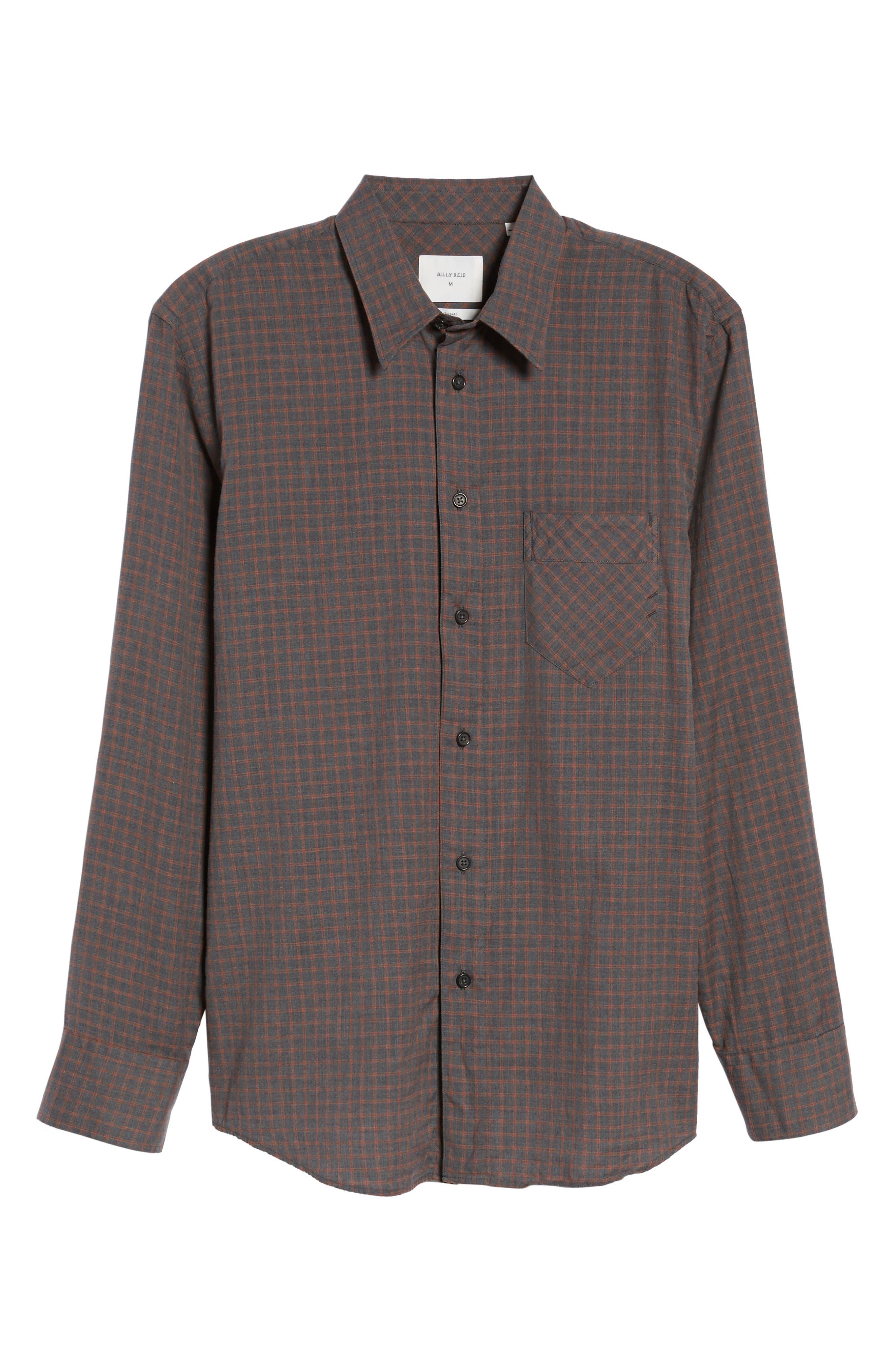 Walland Standard Fit Check Sport Shirt,                             Alternate thumbnail 6, color,