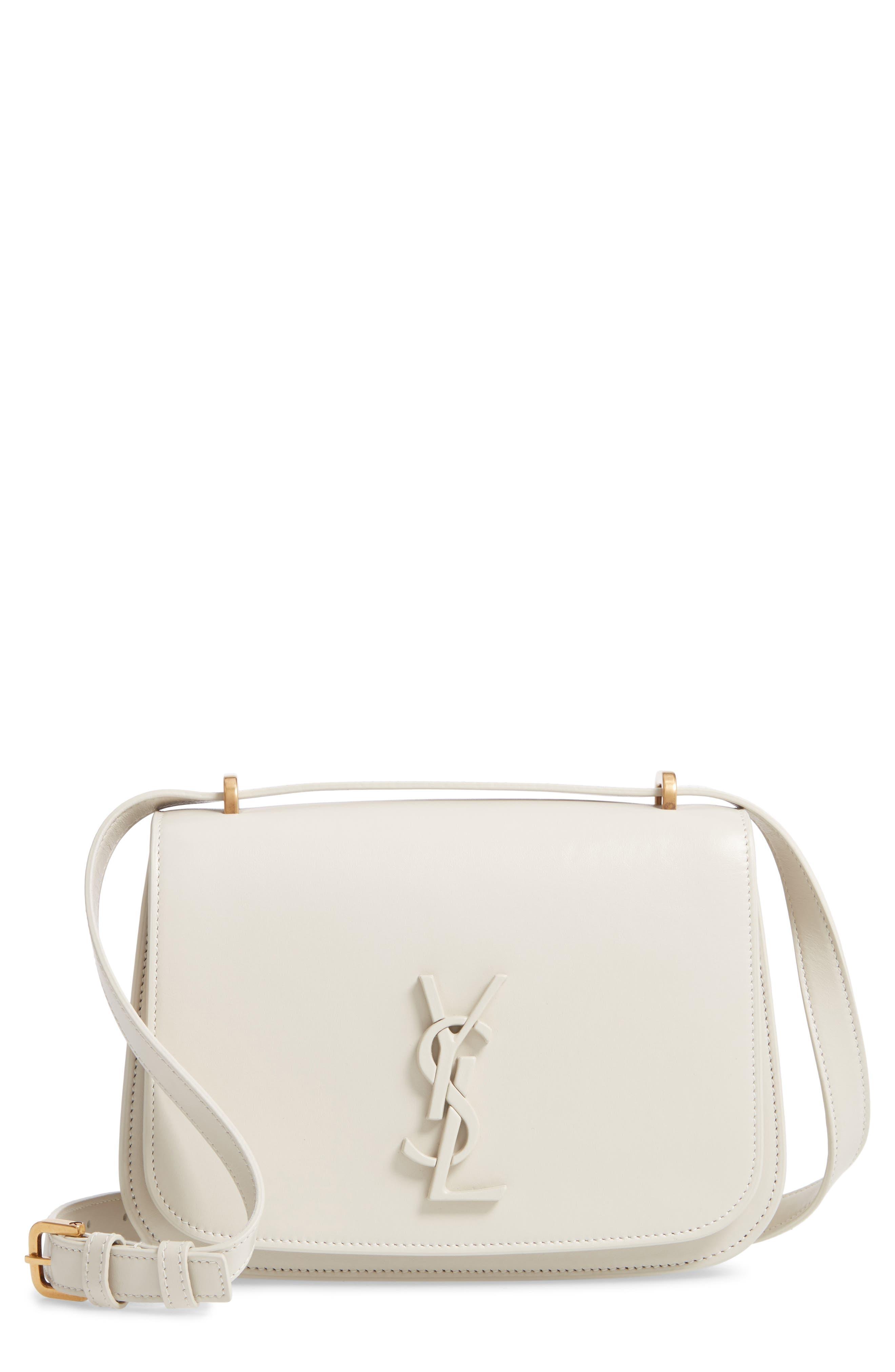 Spontini Calfskin Leather Shoulder Bag, Main, color, CREMASOFT