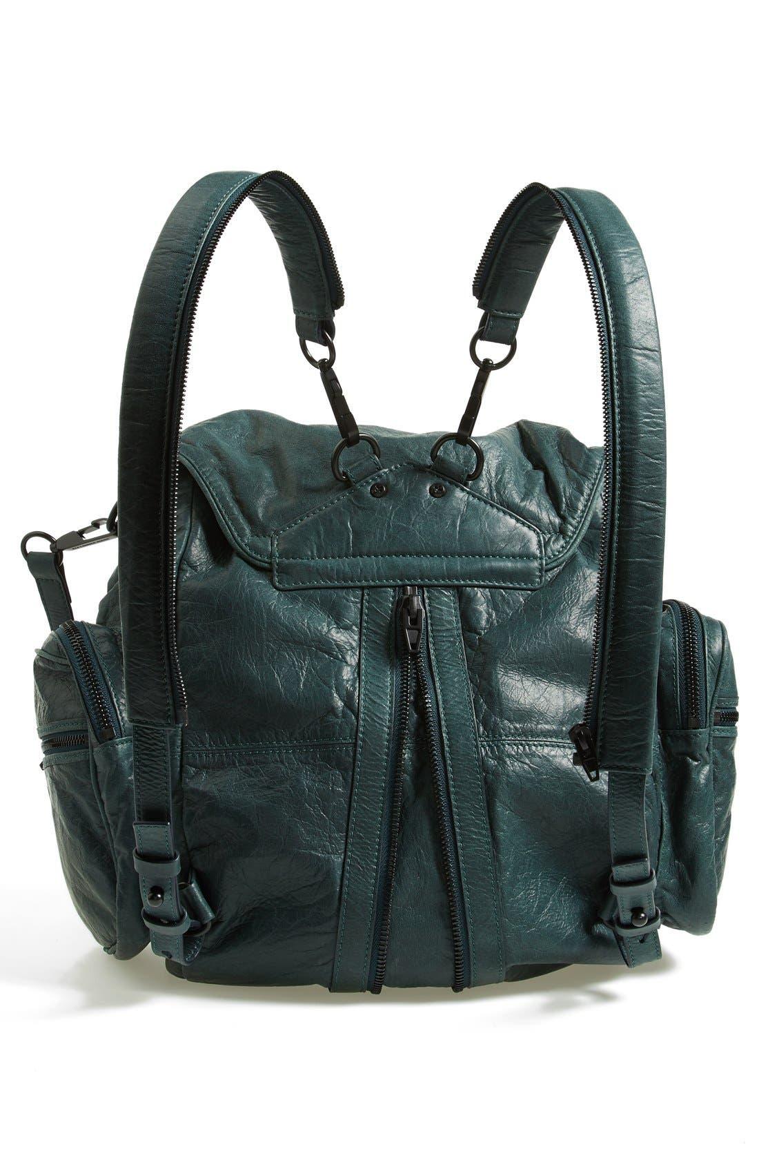 'Marti - Rose Gold' Leather Backpack,                             Alternate thumbnail 6, color,