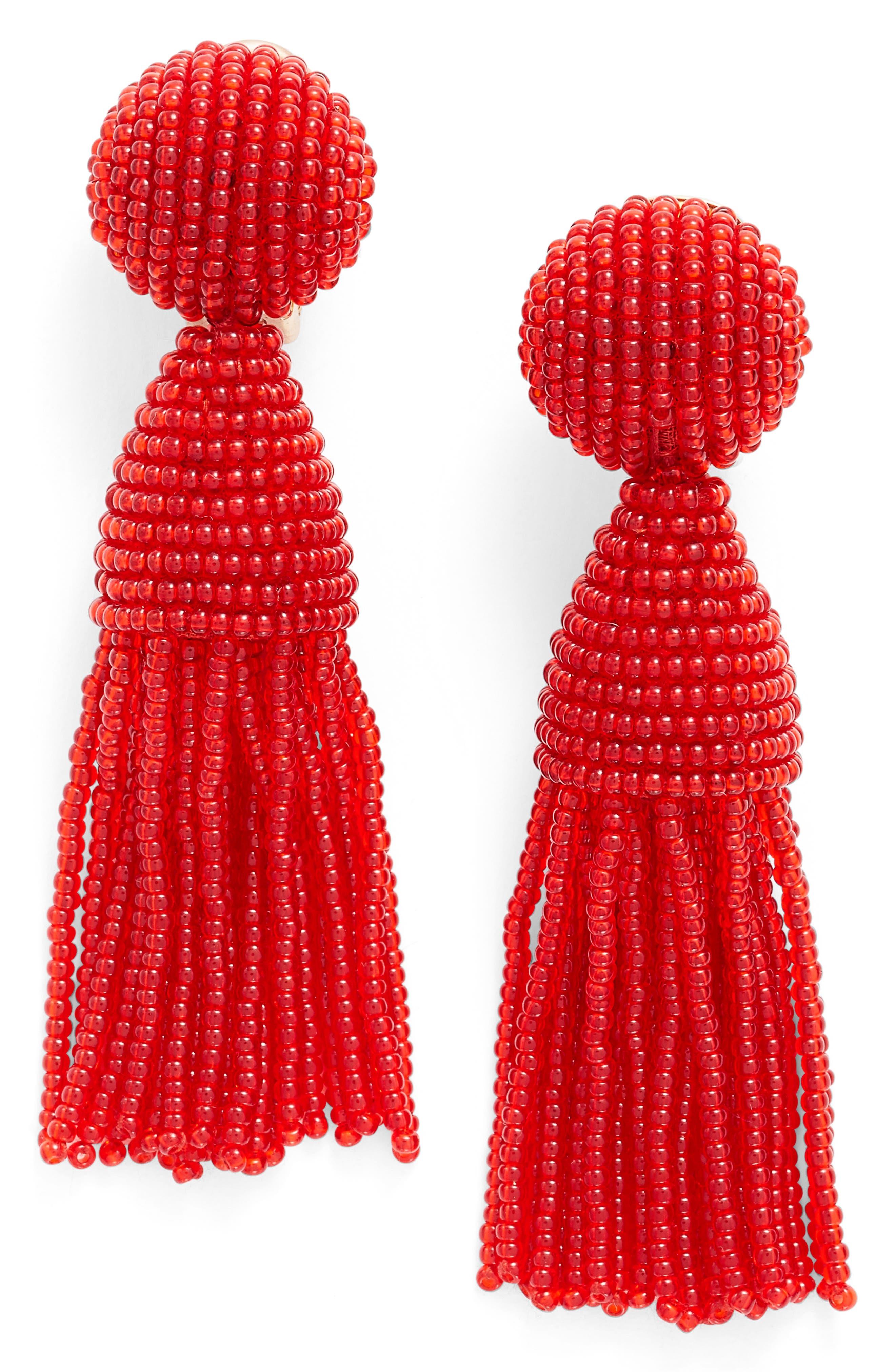 'Classic Short' Tassel Drop Clip Earrings,                             Main thumbnail 18, color,