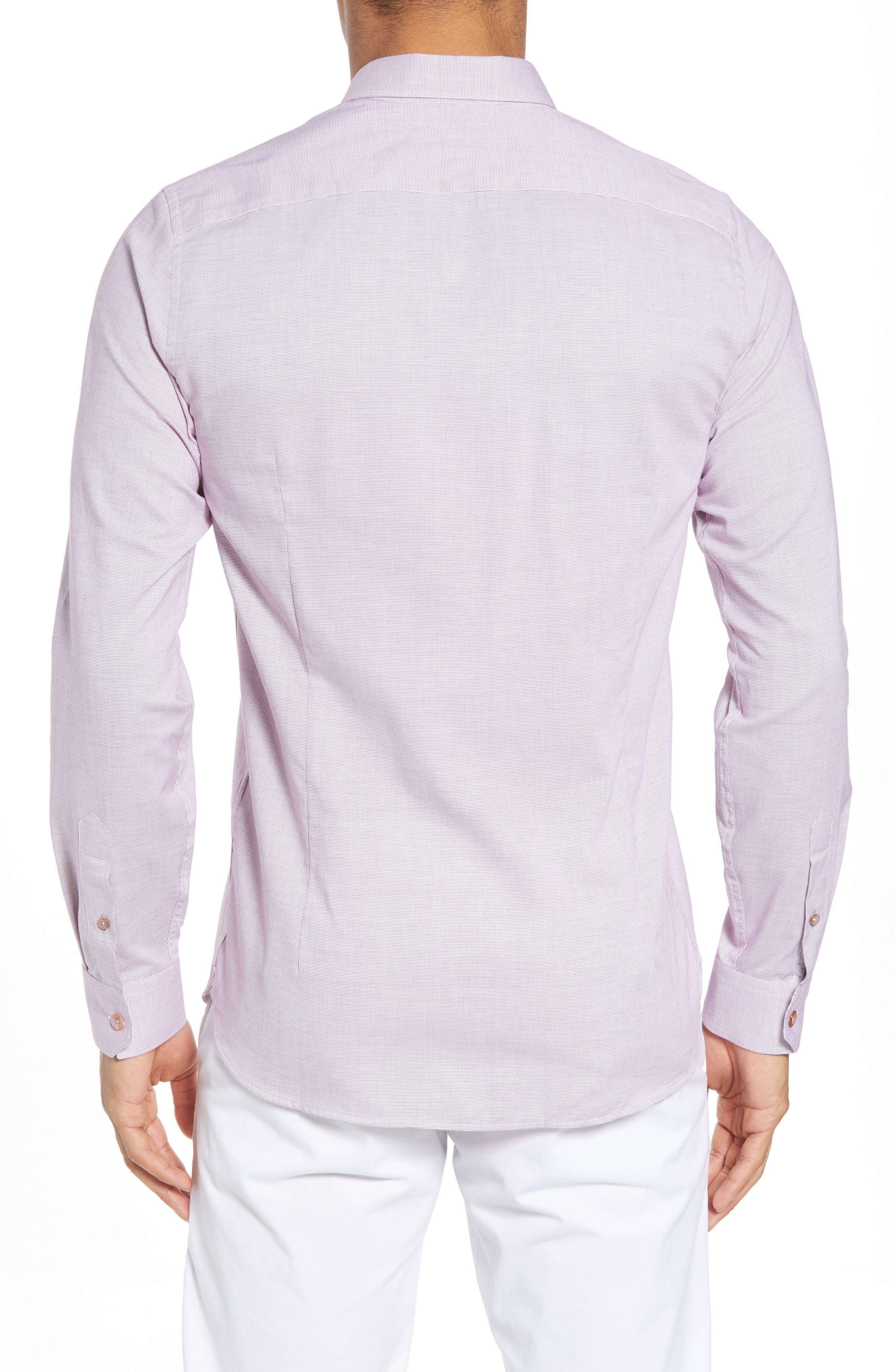 Slim Fit Textured Sport Shirt,                             Alternate thumbnail 10, color,