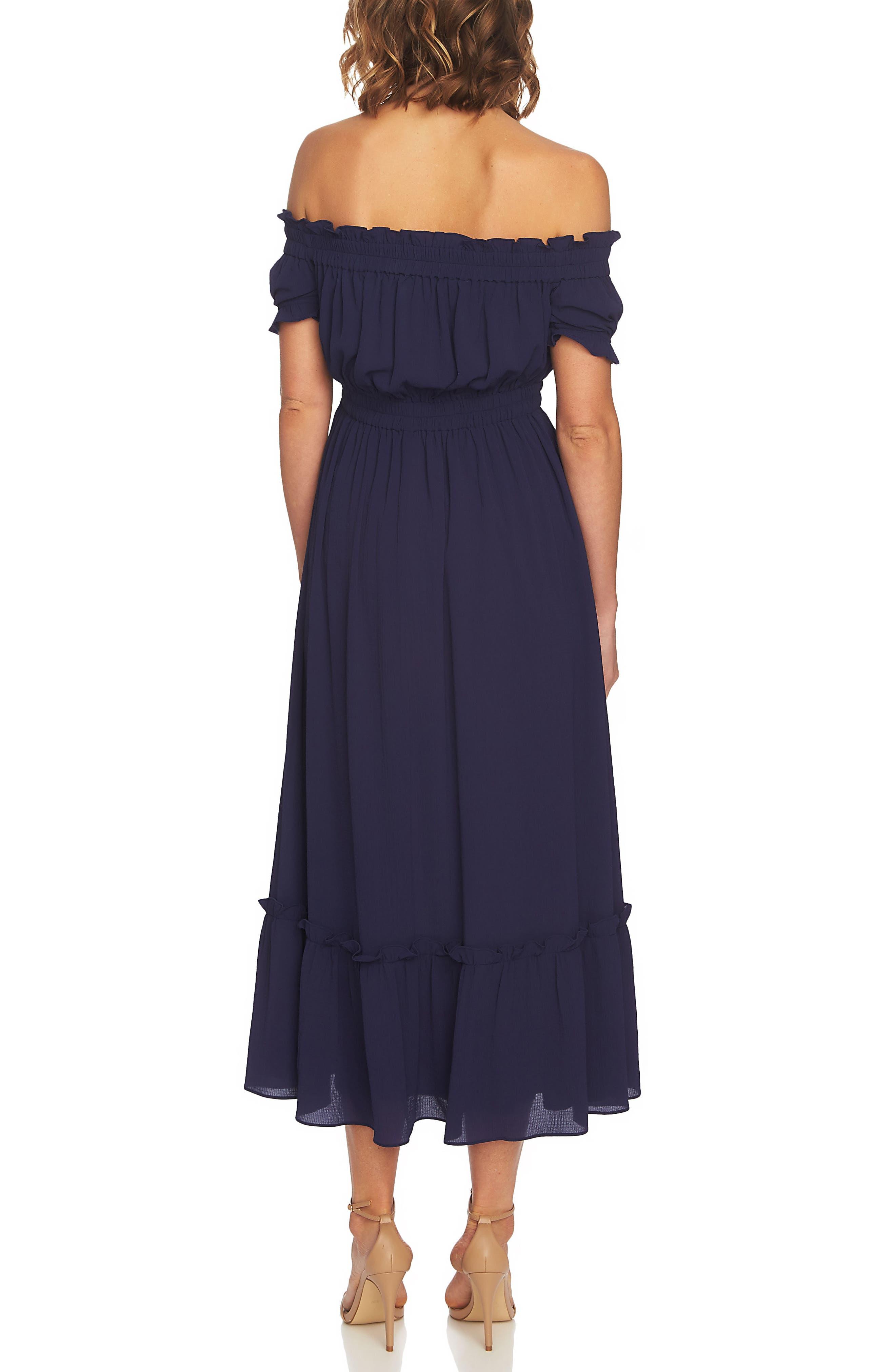 Vivian Off the Shoulder Smocked Maxi Dress,                             Alternate thumbnail 2, color,                             452