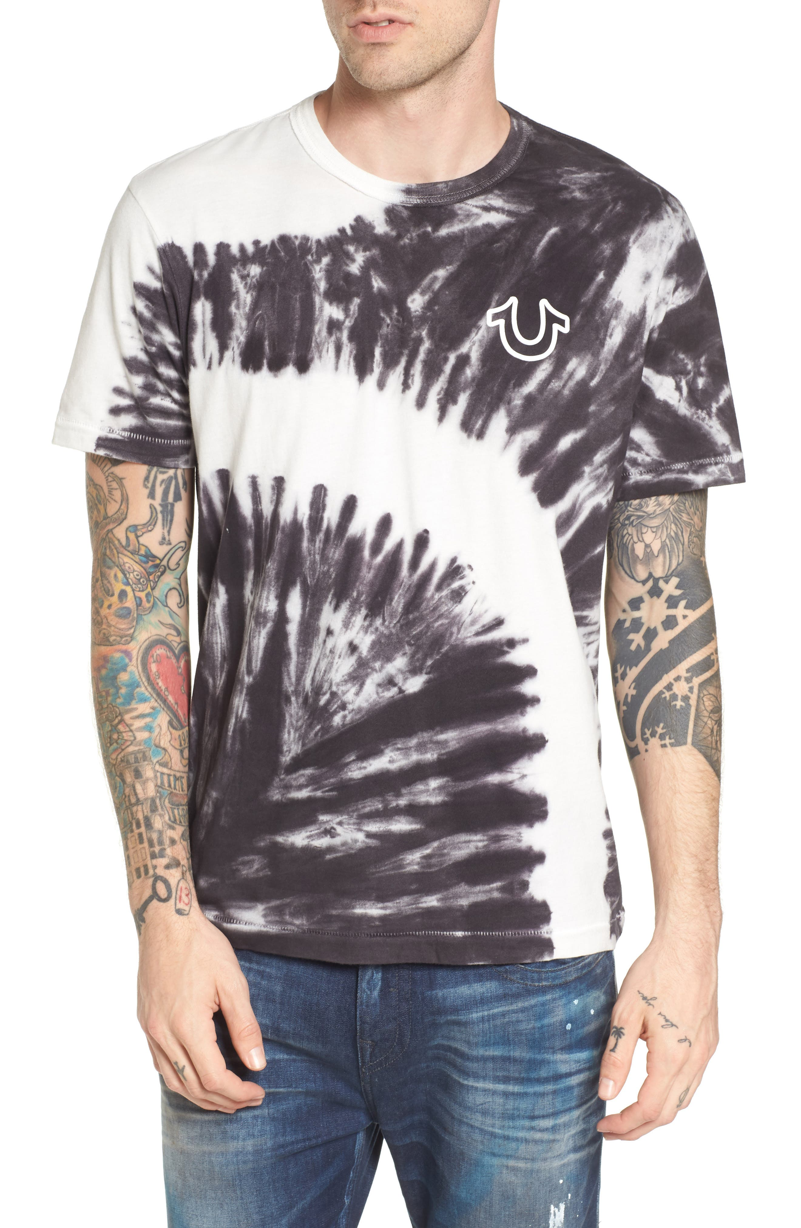 Bleached Washed T-Shirt,                             Main thumbnail 1, color,                             400