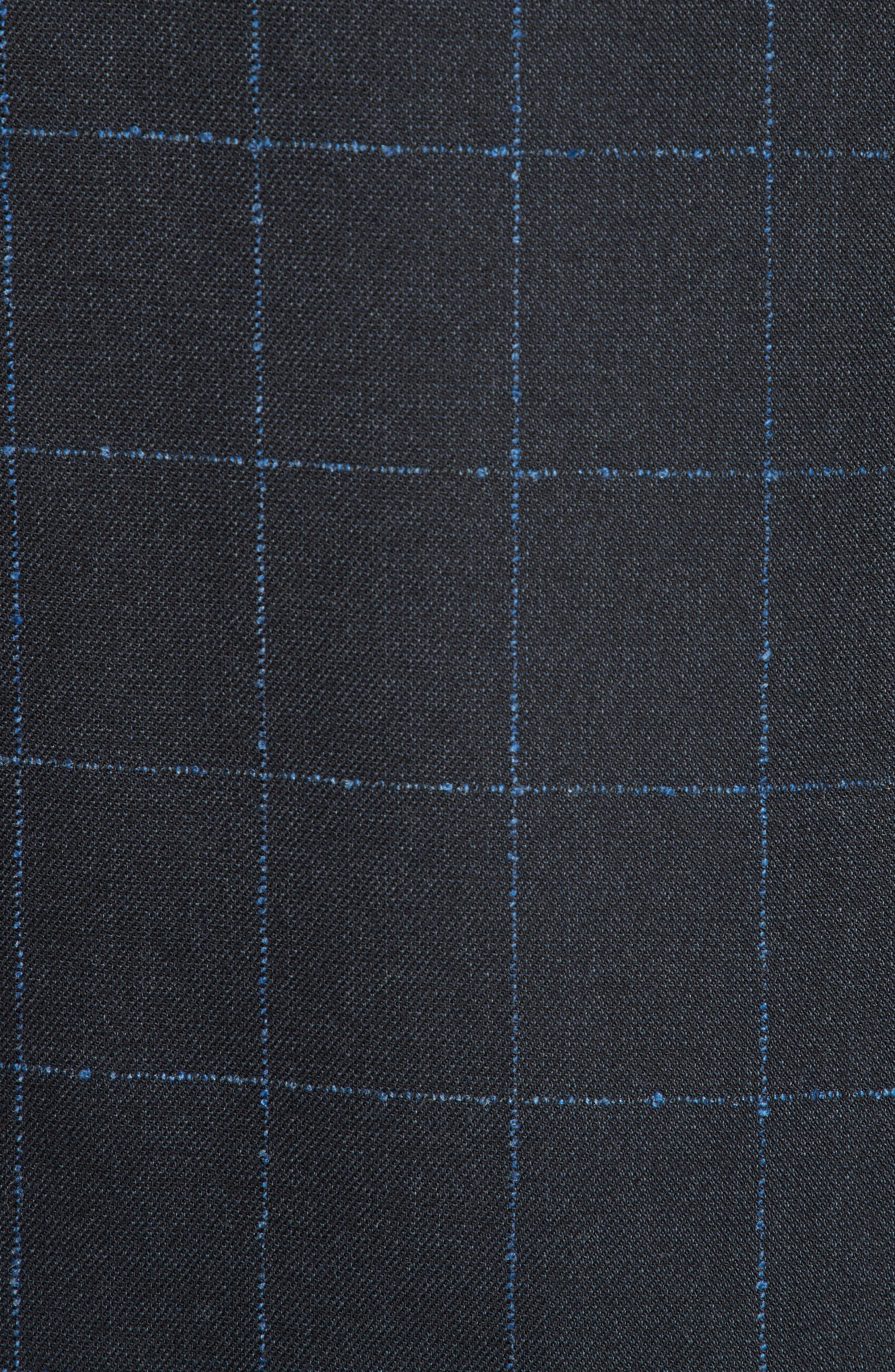G-Line Trim Fit Stretch Windowpane Sport Coat,                             Alternate thumbnail 6, color,                             NAVY