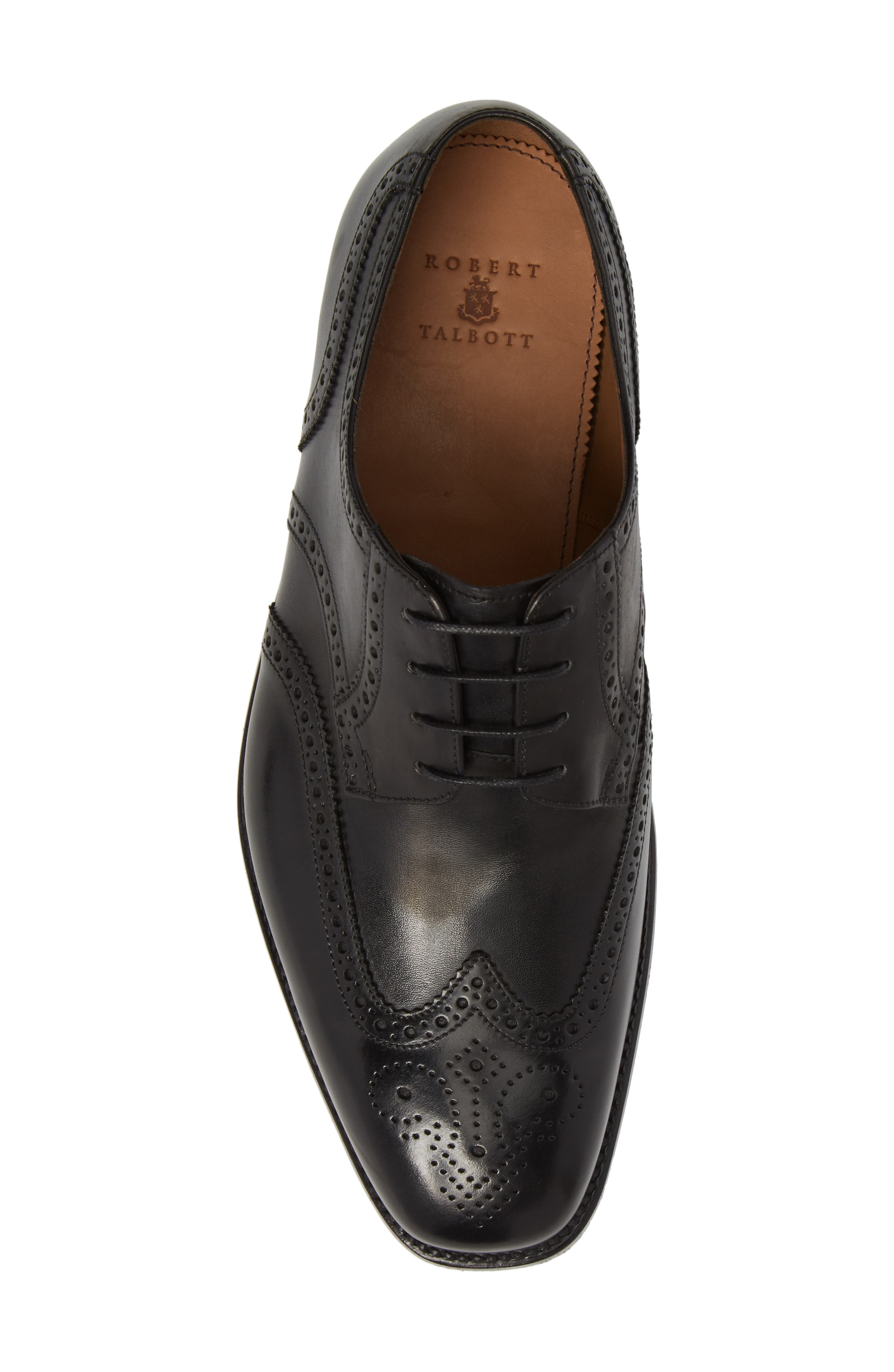 Cavallo Wingtip,                             Alternate thumbnail 5, color,                             BLACK LEATHER