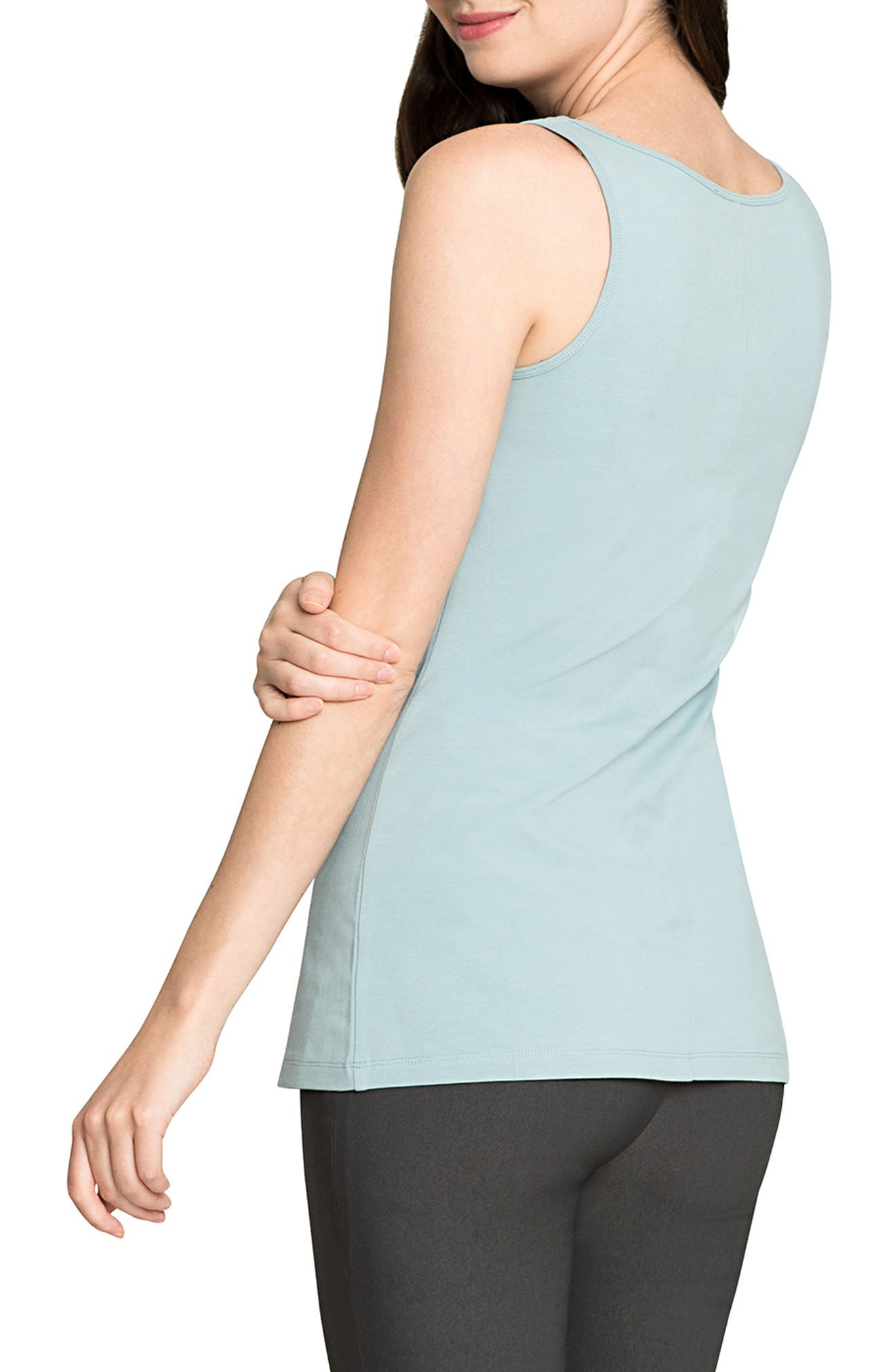 Perfect Scoop Tank,                             Alternate thumbnail 2, color,                             SEAFOAM