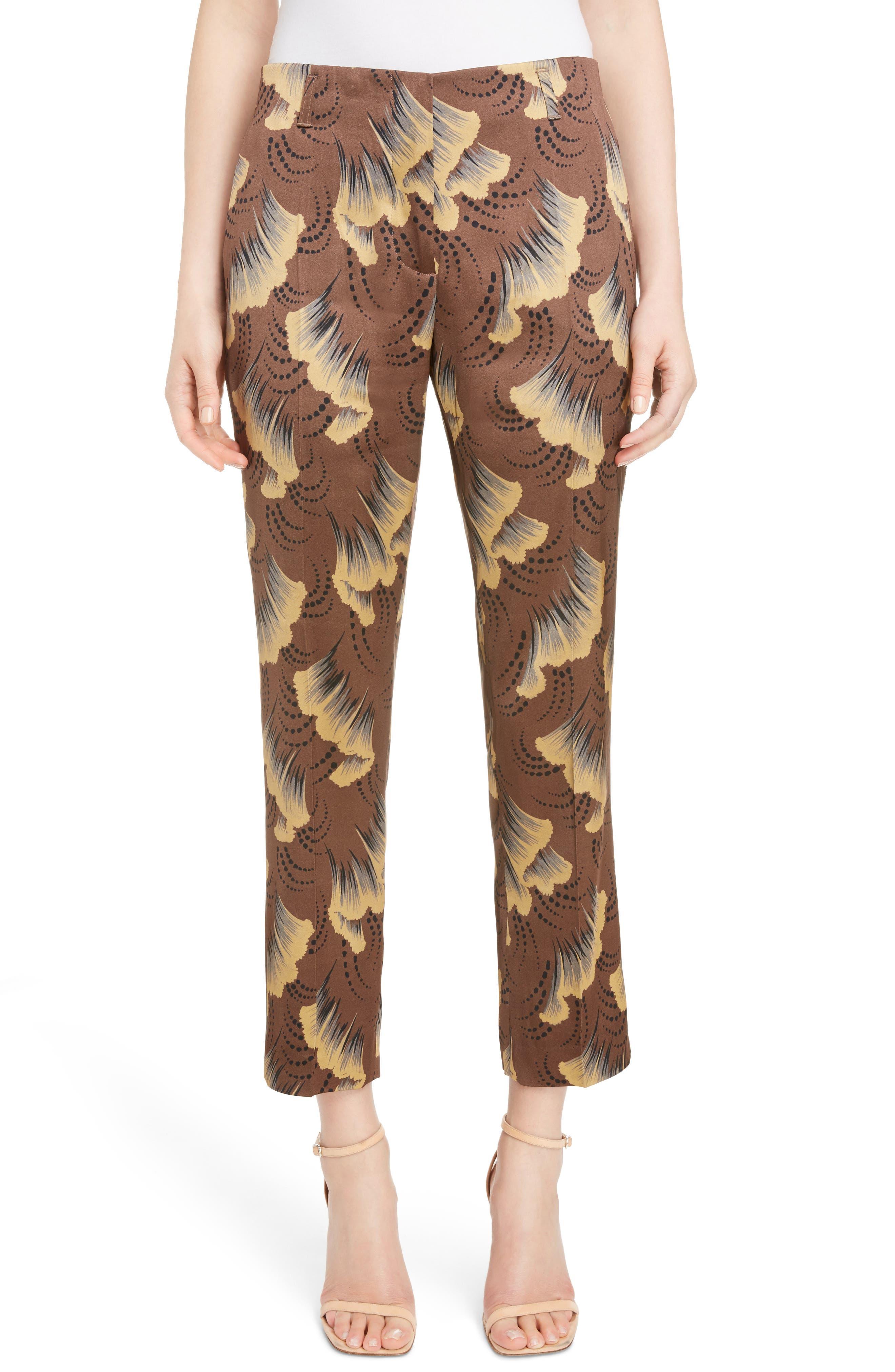 Ginkgo Print Pants,                         Main,                         color, 200