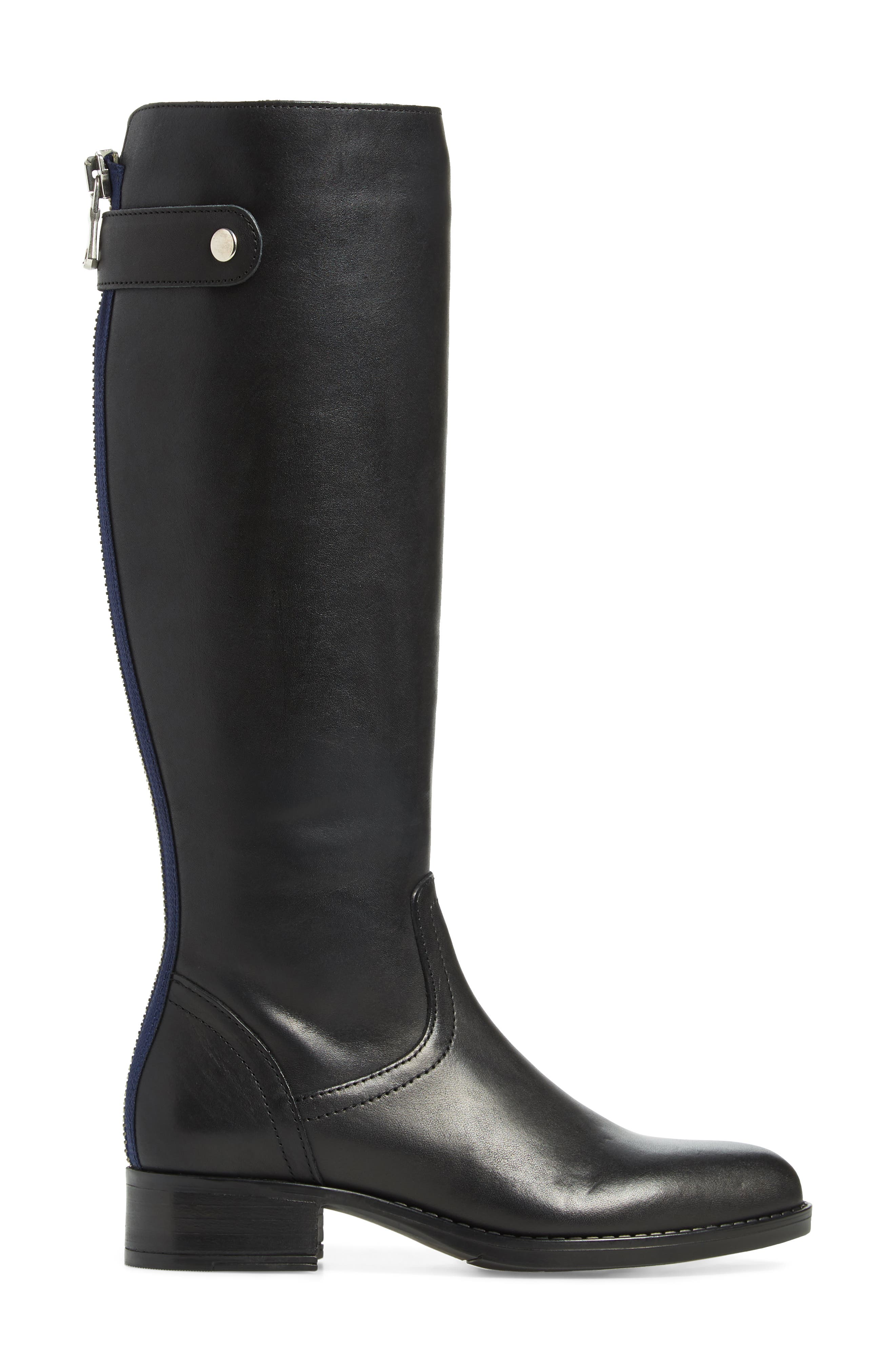 Journal Knee High Boot,                             Alternate thumbnail 3, color,                             BLACK LEATHER