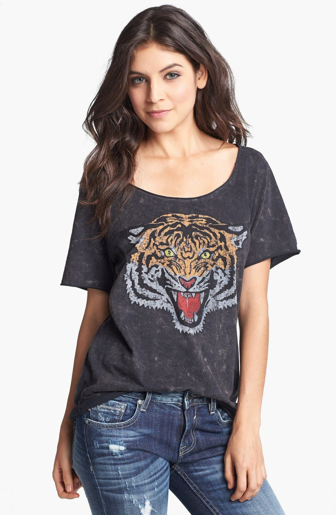 Tiger Graphic Tee, Main, color, 001