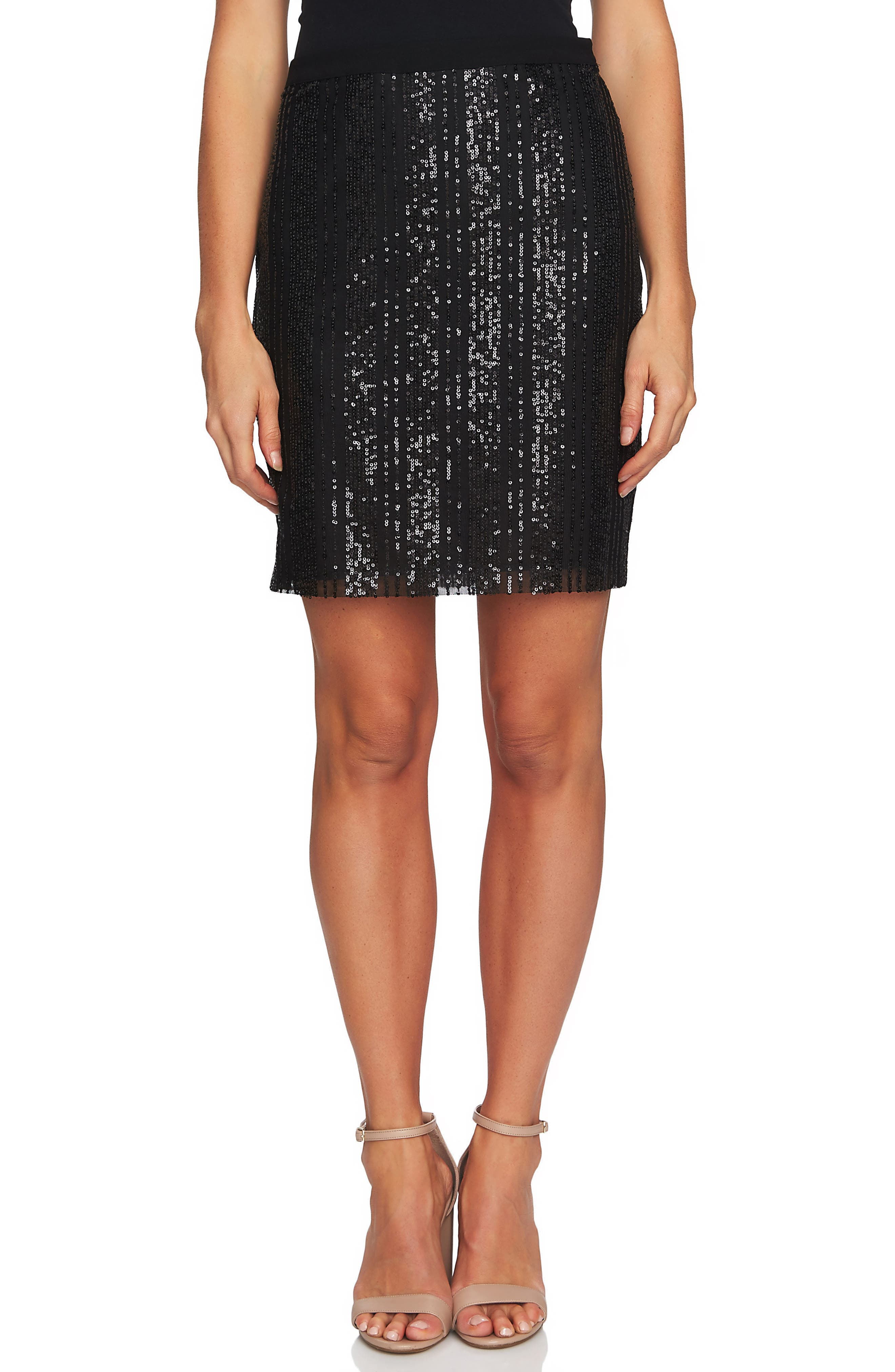 Sequin Stripe Miniskirt,                         Main,                         color, 006