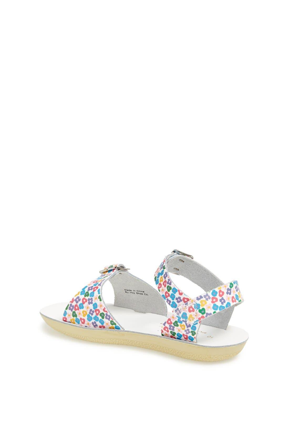 Shoe Company 'Floral Surfer' Sandal,                             Alternate thumbnail 2, color,                             100