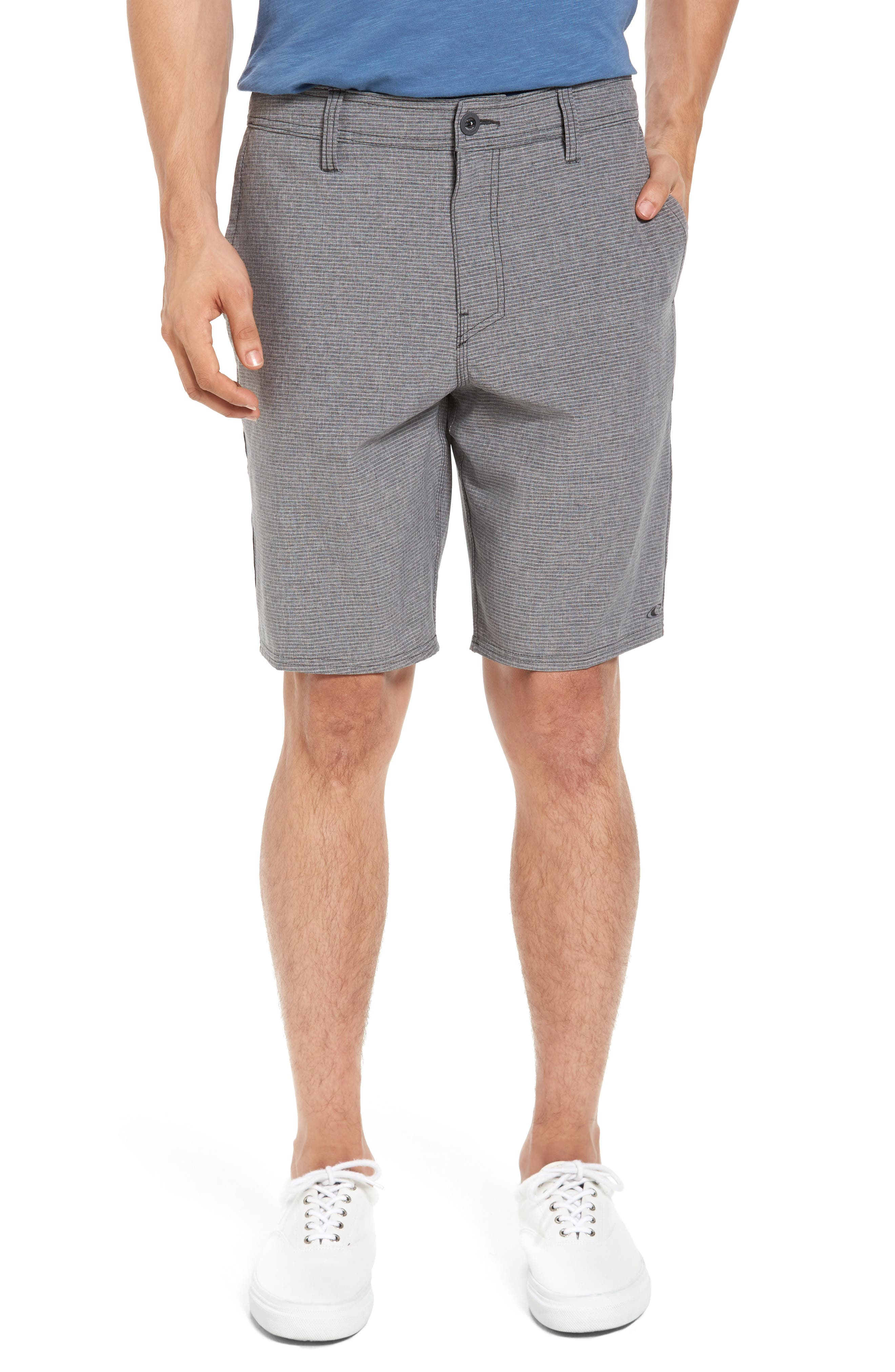 Locked Stripe Hybrid Shorts,                             Alternate thumbnail 4, color,                             001
