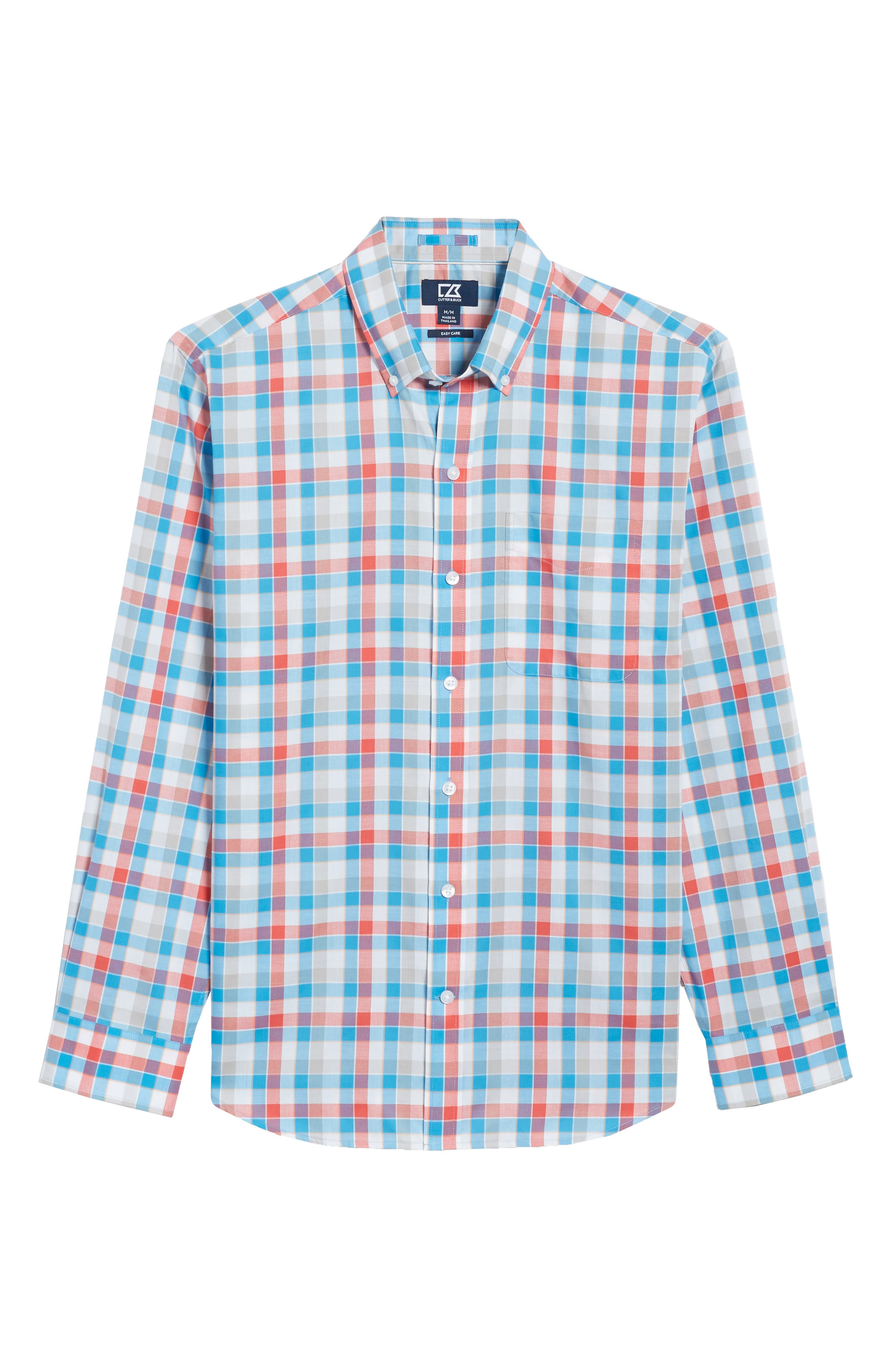 Dylan Classic Fit Easy Care Check Sport Shirt,                             Alternate thumbnail 17, color,