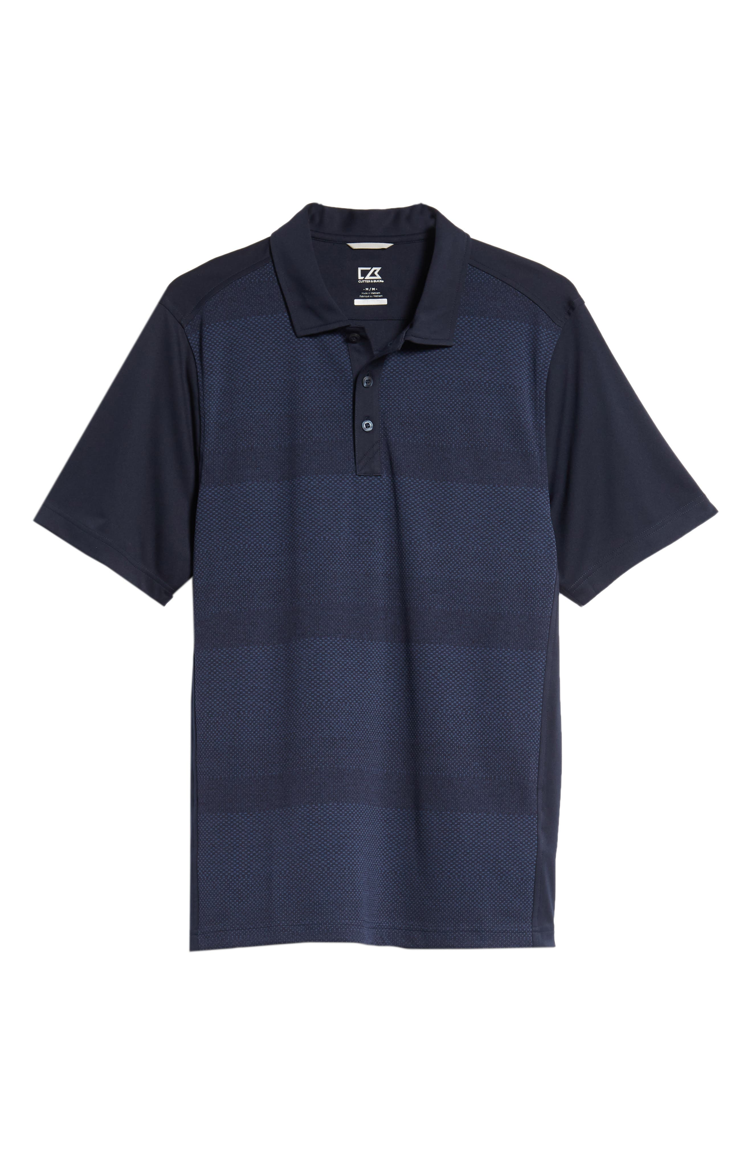 Crescent DryTec Microprint Polo,                             Alternate thumbnail 6, color,                             LIBERTY NAVY