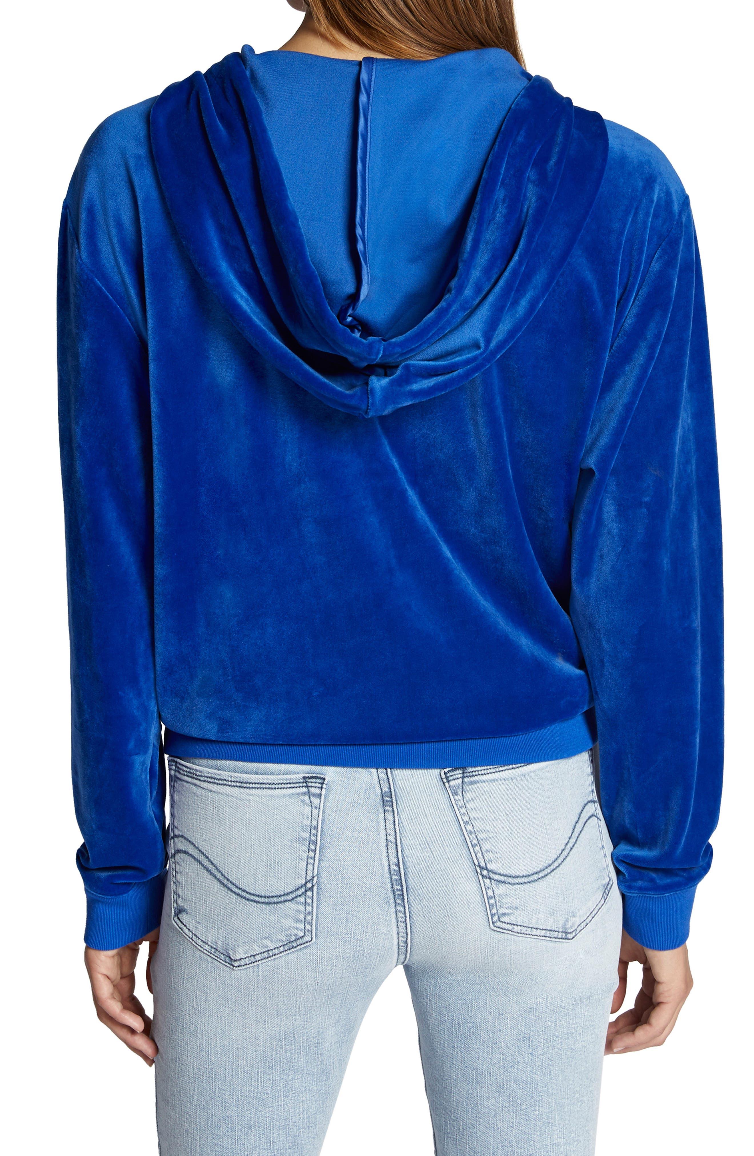 Melrose Raisin Hooded Jacket,                             Alternate thumbnail 2, color,                             ELECTRIC BLUE