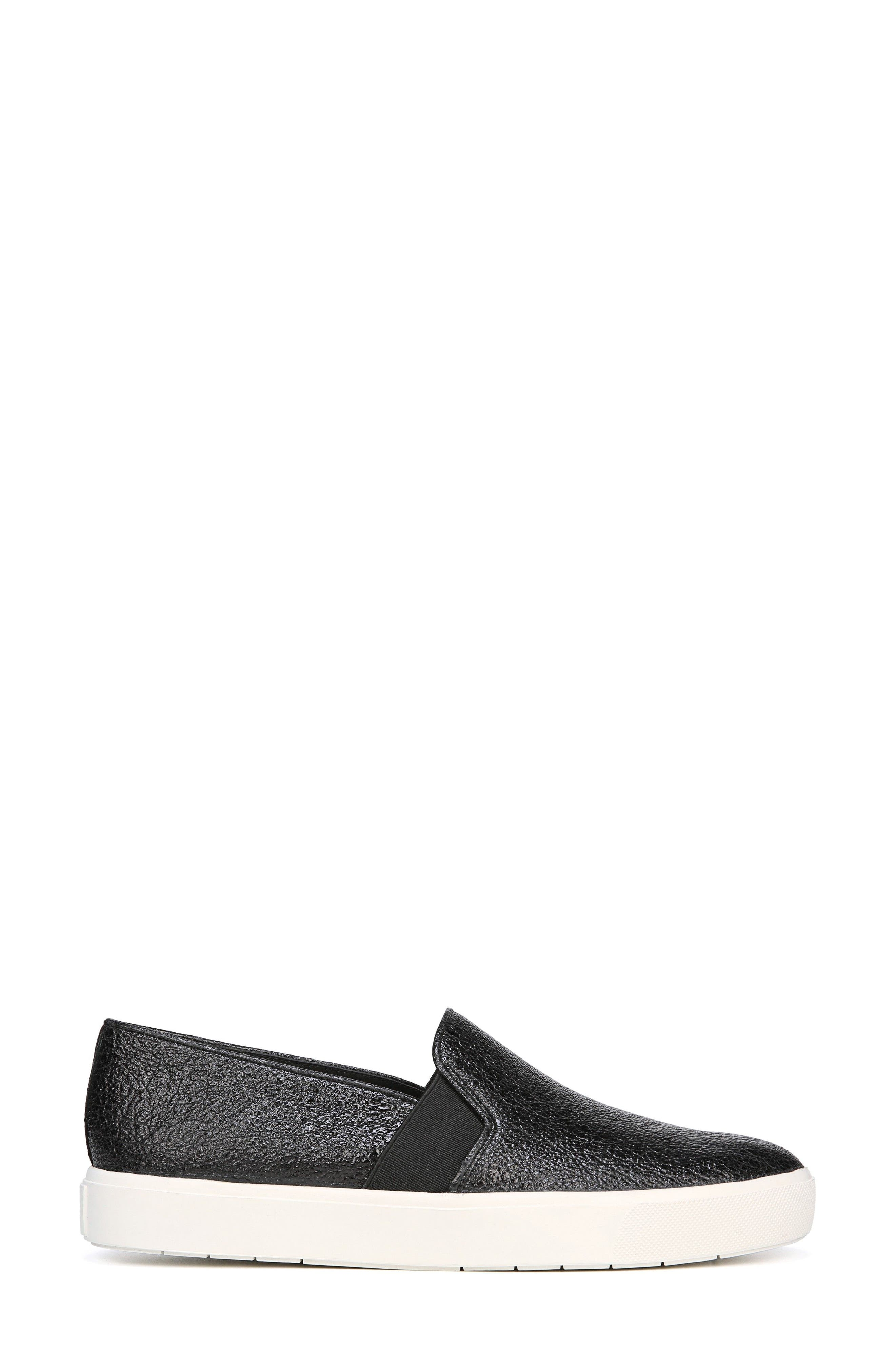 'Blair 12' Leather Slip-On Sneaker,                             Alternate thumbnail 3, color,                             BLACK LEATHER